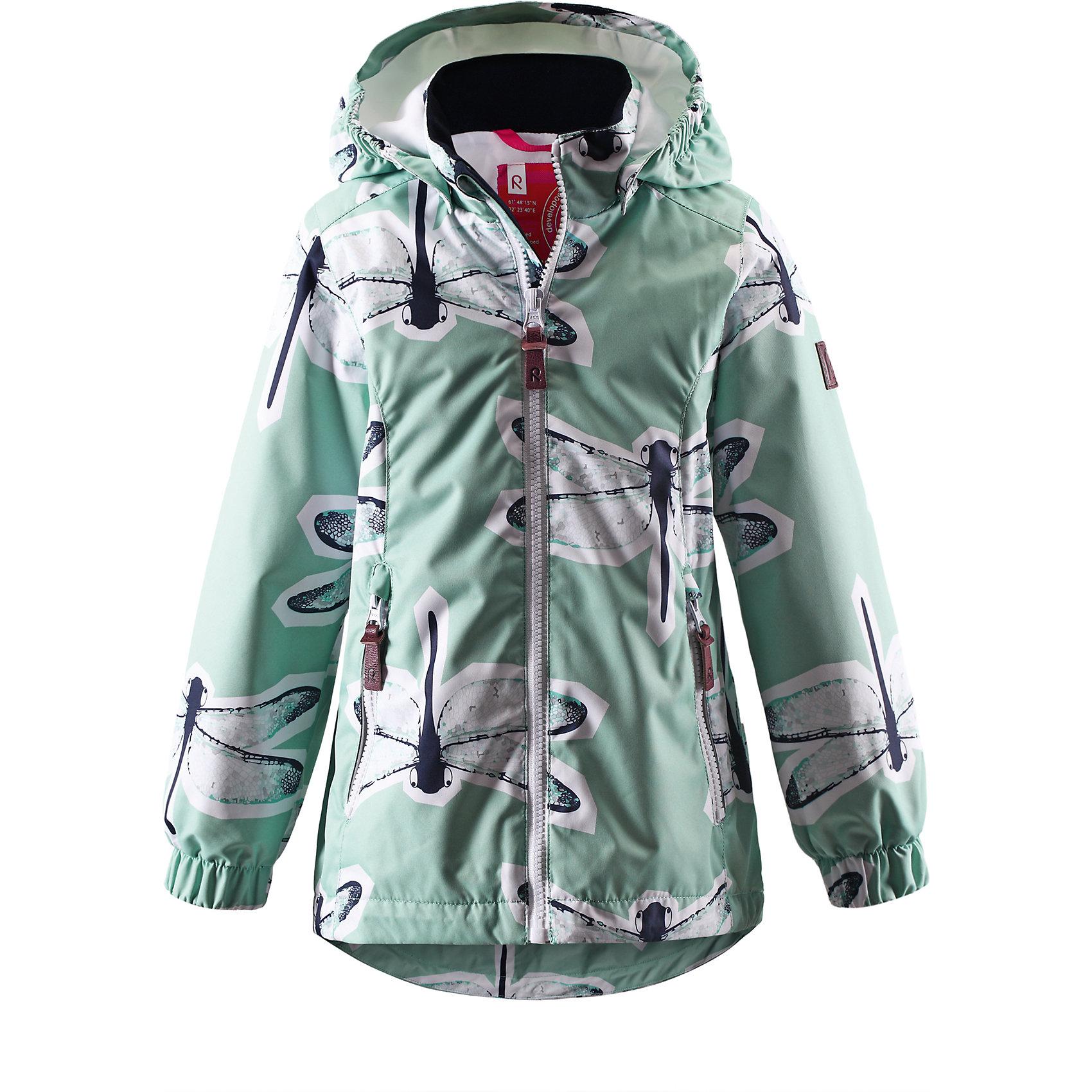 Куртка для девочки ReimaКрасивая, удлиненная демисезонная куртка для детей эффективно защищает от ветра. Дышащий материал также является водо- и грязеотталкивающим, а основные швы данной куртки проклеены для создания водонепроницаемости. Гладкая подкладка из полиэстера облегчает одевание и превращает его в веселый процесс. Отстегивающийся капюшон и светоотражающие детали обеспечивают безопасность во время прогулок в поисках впечатлений, а карманы с клапанами идеально подходят для хранения маленьких ценностей.<br><br>Дополнительная информация:<br><br>Куртка демисезонная для детей<br>Основные швы проклеены и не пропускают влагу<br>Водоотталкивающий, ветронепроницаемый, «дышащий» и грязеотталкивающий материал<br>Гладкая подкладка из полиэстра<br>Безопасный, съемный капюшон<br>Регулируемый подол<br>Два кармана на молнии<br>Безопасные светоотражающие детали<br>Состав:<br>100% ПЭ, ПУ-покрытие<br>Уход:<br>Стирать по отдельности, вывернув наизнанку. Застегнуть молнии и липучки. Стирать моющим средством, не содержащим отбеливающие вещества. Полоскать без специального средства. Во избежание изменения цвета изделие необходимо вынуть из стиральной машинки незамедлительно после окончания программы стирки. Сушить при низкой температуре.<br><br>Ширина мм: 356<br>Глубина мм: 10<br>Высота мм: 245<br>Вес г: 519<br>Цвет: серый<br>Возраст от месяцев: 36<br>Возраст до месяцев: 48<br>Пол: Женский<br>Возраст: Детский<br>Размер: 104,134,140,128,110,92,98,116,122<br>SKU: 4497342