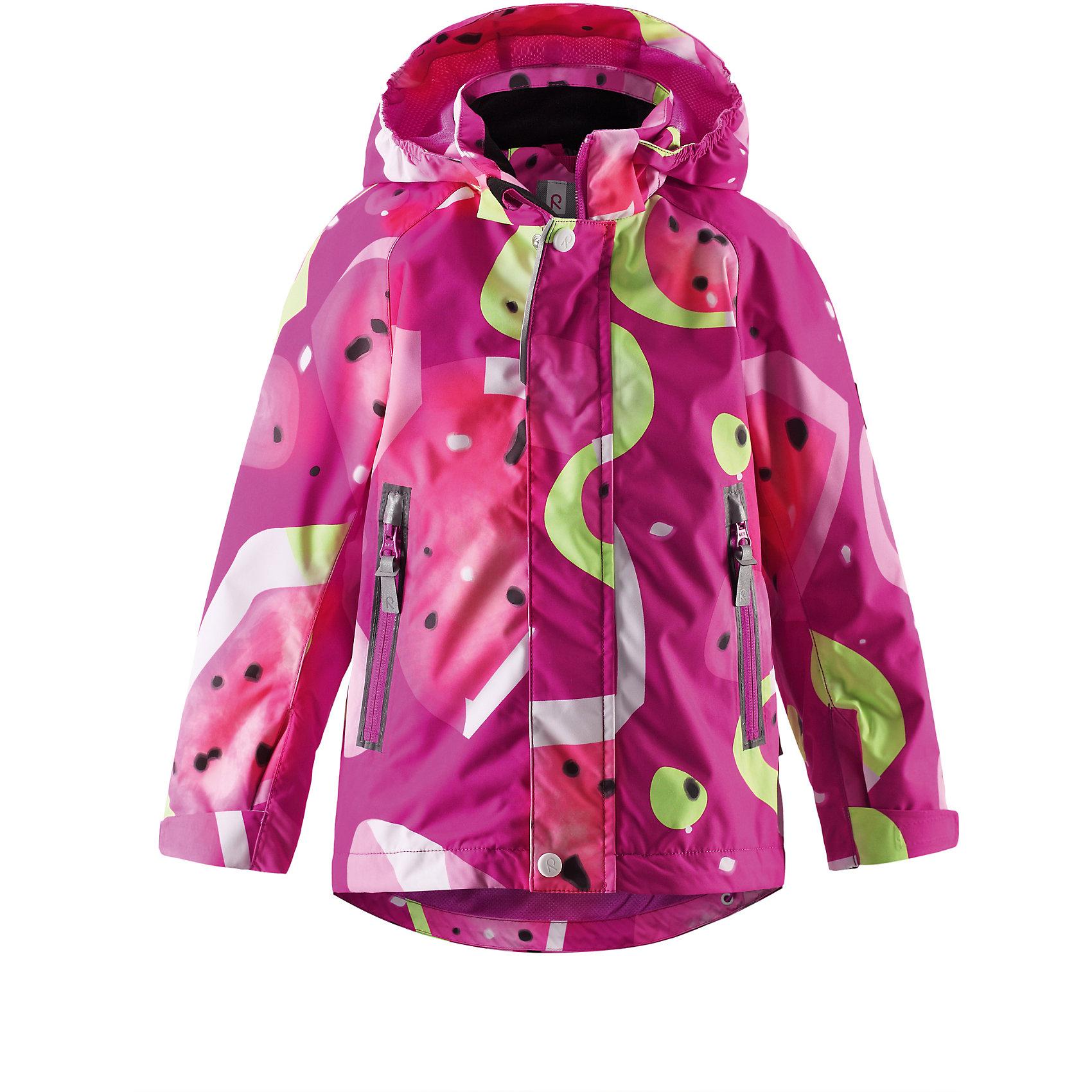 Куртка для девочки Reimatec ReimaДемисезонная куртка для детей рассчитана на круглогодичное использование, будь то дождь или солнечная погода, просто в холодную погоду необходимо добавить несколько слоев Reima®. Обратите внимание, что с удобной системой кнопочных застежек Play Layers® можно легко пристегнуть к куртке несколько слоев Reima® для создания дополнительного тепла и комфорта. Сетчатая подкладка куртки из качественного, водонепроницаемого и дышащего материала добавляет комфорта. Съемный капюшон и светоотражающие детали обеспечивают безопасность во время активных игр на воздухе, а карманы на молнии гарантируют идеальное хранение наиболее ценных для ребенка мелочей.<br><br>Дополнительная информация:<br><br>Куртка демисезонная для детей<br>Все швы проклеены и водонепроницаемы<br>Водо- и ветронепроницаемый, «дышащий» и грязеотталкивающий материал<br>Подкладка из mesh-сетки<br>Безопасный, отстегивающийся и регулируемый капюшон<br>Регулируемые манжеты и подол<br>Два кармана на молнии<br>Безопасные светоотражающие детали<br>Состав:<br>100% ПЭ, ПУ-покрытие<br>Уход:<br>Стирать по отдельности, вывернув наизнанку. Застегнуть молнии и липучки. Стирать моющим средством, не содержащим отбеливающие вещества. Полоскать без специального средства. Во избежание изменения цвета изделие необходимо вынуть из стиральной машинки незамедлительно после окончания программы стирки. Можно сушить в сушильном шкафу или центрифуге (макс. 40° C).<br><br>Ширина мм: 356<br>Глубина мм: 10<br>Высота мм: 245<br>Вес г: 519<br>Цвет: розовый<br>Возраст от месяцев: 96<br>Возраст до месяцев: 108<br>Пол: Женский<br>Возраст: Детский<br>Размер: 134,140,122,104,110,116,128<br>SKU: 4497361
