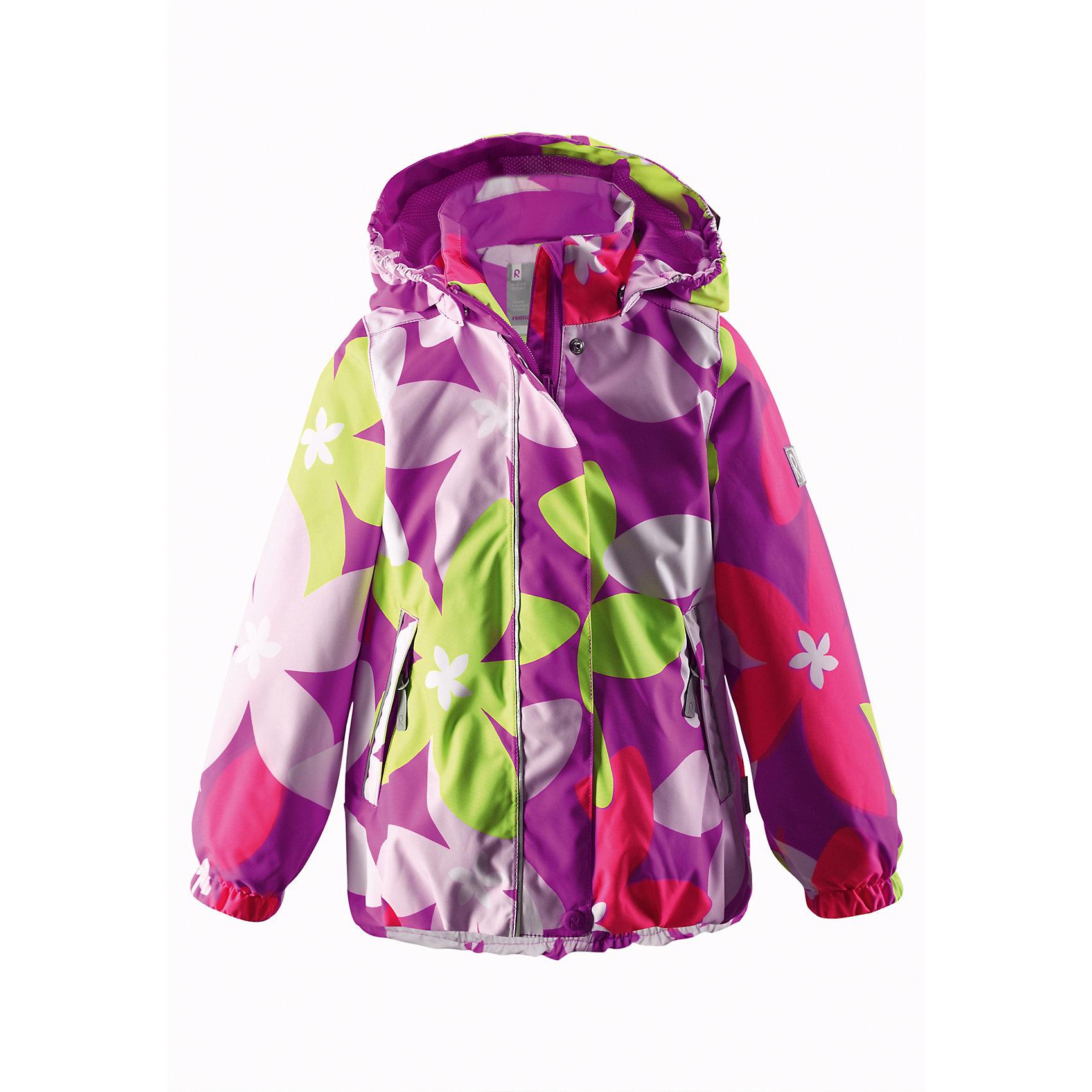 Куртка для девочки Reimatec ReimaДемисезонная куртка для детей при добавлении среднего и базового слоев Reima легко трансформируется в одежду для круглогодичного использования, будь то в дождь или солнечную погоду. Обратите внимание, что с удобной системой кнопочных застежек Play Layers® можно легко пристегнуть к куртке несколько слоев Reima® для создания дополнительного тепла и комфорта. Все швы проклеены для максимальной защиты. Куртка снабжена удобной сетчатой подкладкой и безопасным съемным капюшоном. Отражающие детали помогут увидеть ребенка даже после захода солнца, а карманы на молнии будут надежно хранить наиболее важные мелкие предметы во время приключений на открытом воздухе. <br><br>Дополнительная информация:<br><br>Куртка демисезонная для детей<br>Все швы проклеены и водонепроницаемы<br>Водо- и ветронепроницаемый «дышащий» материал<br>Подкладка из mesh-сетки<br>Безопасный, отстегивающийся и регулируемый капюшон<br>Два кармана на молнии<br>Безопасные светоотражающие детали<br>Состав:<br>100% ПЭ, ПУ-покрытие<br>Уход:<br>Стирать по отдельности, вывернув наизнанку. Застегнуть молнии и липучки. Стирать моющим средством, не содержащим отбеливающие вещества. Полоскать без специального средства. Во избежание изменения цвета изделие необходимо вынуть из стиральной машинки незамедлительно после окончания программы стирки. Можно сушить в сушильном шкафу или центрифуге (макс. 40° C).<br><br>Ширина мм: 356<br>Глубина мм: 10<br>Высота мм: 245<br>Вес г: 519<br>Цвет: розовый<br>Возраст от месяцев: 96<br>Возраст до месяцев: 108<br>Пол: Женский<br>Возраст: Детский<br>Размер: 134,140,122,110,104,116,128<br>SKU: 4497377