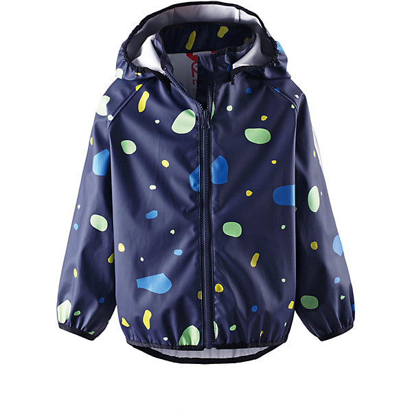 Куртка-дождевик для мальчика ReimaВерхняя одежда<br>Классический плащ Reima® для малышей с фантастическими расцветками и рисунками. Безопасный, сертифицированный материал ?ko-Tex не содержит ПВХ. Гибкий, но износостойкий материал не «деревенеет» на морозе, поэтому плащ идеально подходит для использования круглый год, нужно только добавить слои Reima  под низ для дополнительного тепла. Съемный капюшон обеспечит безопасность во время игр на воздухе, и защитит от ливня и пронизывающего ветра.<br><br>Дополнительная информация:<br><br>Куртка-дождевик для детей<br>Запаянные швы, не пропускающие влагу<br>Эластичный материал<br>Безопасный, съемный капюшон<br>Эластичные манжеты и подол<br>Молния спереди<br>Состав:<br>100% ПЭ, ПУ-покрытие<br>Уход:<br>Стирать по отдельности, вывернув наизнанку. Стирать моющим средством, не содержащим отбеливающие вещества. Полоскать без специального средства. Во избежание изменения цвета изделие необходимо вынуть из стиральной машинки незамедлительно после окончания программы стирки. Сушить при низкой температуре.<br>Ширина мм: 356; Глубина мм: 10; Высота мм: 245; Вес г: 519; Цвет: темно-синий; Возраст от месяцев: 72; Возраст до месяцев: 84; Пол: Унисекс; Возраст: Детский; Размер: 122,116,86,110,104,92,98,134,140,128; SKU: 4497478;