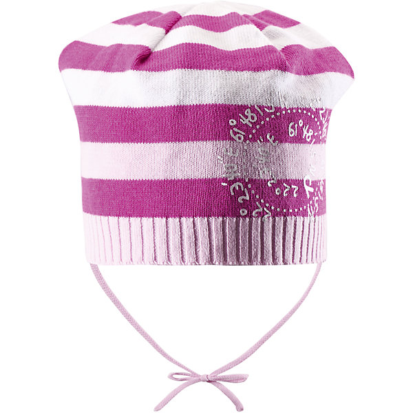 Шапка для девочки ReimaШапки и шарфы<br>Классическая шапочка для малышей идеально подойдет для раннего лета. Она защитит ребенка от прохладного ветра и яркого солнца, но голова при этом не вспотеет. Шапочка изготовлена из дышащего и легкого вязаного хлопка, максимально комфортного в носке. Декоративный вязаный узор придает этой стильной шапочке завершающую нотку!<br><br>Дополнительная информация:<br><br>Шапка «Бини» для малышей<br>Эластичная хлопчатобумажная ткань<br>Легкий стиль, без подкладки<br>Логотип Reima® сзади<br>Спортивные полоски<br>Декоративный принт сбоку<br>Состав:<br>100% хлопок<br>Уход:<br>Стирать по отдельности, вывернув наизнанку. Придать первоначальную форму вo влажном виде. Возможна усадка 5 %.<br><br>Ширина мм: 89<br>Глубина мм: 117<br>Высота мм: 44<br>Вес г: 155<br>Цвет: розовый<br>Возраст от месяцев: 9<br>Возраст до месяцев: 12<br>Пол: Женский<br>Возраст: Детский<br>Размер: 48,50,52,46<br>SKU: 4497761