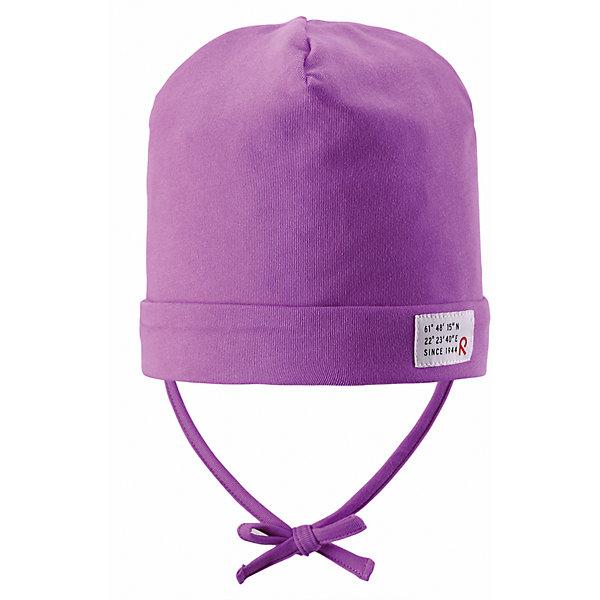 Шапка для девочки ReimaШапки и шарфы<br>Весна пришла! А к весне мы подготовили эту легкую шапочку для малышей свежей расцветки с УФ-защитой 40+. Шапочка изготовлена из дышащего и быстросохнущего материла Play Jersey®, эффективно выводящего влагу с кожи. Идеальный выбор для активных прогулок на весеннем солнышке! <br><br>Дополнительная информация:<br><br>Трикотажная шапка «Бини» для малышей<br>Быстросохнущий материал Play Jersey, приятный на ощупь<br>Мягкий хлопчатобумажный верх, внутренняя поверхность хорошо выводит влагу<br>Фактор защиты от ультрафиолета 40+<br>Сплошная подкладка: отводящий влагу материал Play Jersey<br>Логотип Reima® сбоку<br>Состав:<br>65% ХЛ 30% ПЭ 5% ЭЛ<br>Уход:<br>Стирать с бельем одинакового цвета, вывернув наизнанку. Полоскать без специального средства. Придать первоначальную форму вo влажном виде.<br><br>Ширина мм: 89<br>Глубина мм: 117<br>Высота мм: 44<br>Вес г: 155<br>Цвет: розовый<br>Возраст от месяцев: 9<br>Возраст до месяцев: 12<br>Пол: Женский<br>Возраст: Детский<br>Размер: 46,52,48,50<br>SKU: 4497781