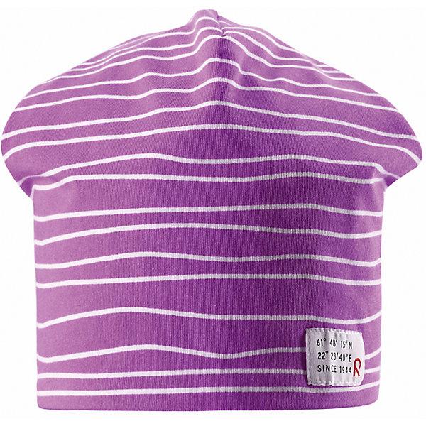 Шапка для девочки ReimaГоловные уборы<br>Эта эффектная шапочка свежей расцветки для малышей и детей постарше — великолепный выбор для всех маленьких покорителей природы! Шапочка изготовлена из простого в уходе и быстросохнущего материла Play Jersey®, эффективно выводящего влагу с кожи во время подвижных игр на свежем воздухе. Обратите внимание, что она имеет УФ-защиту 40+. Стиля много не бывает! Озорная двухсторонняя шапочка в одно мгновение превращается из полосатой в однотонную! <br><br>Дополнительная информация:<br><br>Двухсторонняя шапка «Бини» для детей и малышей<br>Быстросохнущий материал Play Jersey, приятный на ощупь<br>Фактор защиты от ультрафиолета 40+<br>Двухсторонняя модель<br>Сплошная подкладка: отводящий влагу материал Play Jersey<br>Логотип Reima® спереди<br>Веселые цветовые сочетания<br>Состав:<br>65% ХЛ 30% ПЭ 5% ЭЛ<br>Уход:<br>Стирать с бельем одинакового цвета, вывернув наизнанку. Полоскать без специального средства. Придать первоначальную форму вo влажном виде.<br>Ширина мм: 89; Глубина мм: 117; Высота мм: 44; Вес г: 155; Цвет: розовый; Возраст от месяцев: 84; Возраст до месяцев: 144; Пол: Женский; Возраст: Детский; Размер: 56,54,52,50; SKU: 4498128;