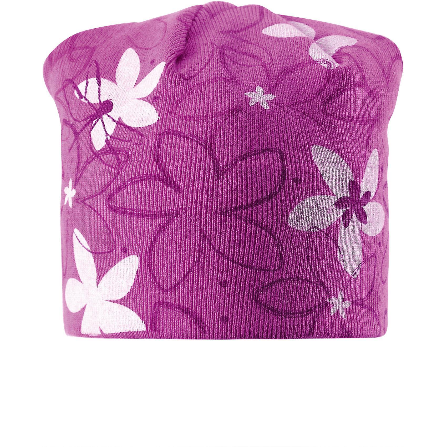 Шапка для девочки ReimaНа создание этой хорошенькой детской шапочки нас вдохновляли мечты о весенних цветах и порхающих стрекозах. Она изготовлена из мягкого и дышащего вязаного хлопчатобумажного материала, очень приятного на ощупь. Ветронепроницаемые вставки в области ушей обеспечивают ушкам дополнительную защиту. Идеальный выбор для увлекательных прогулок!<br><br>Дополнительная информация:<br><br>Шапка «Бини» для детей<br>Эластичная хлопчатобумажная ткань<br>Ветронепроницаемые вставки в области ушей<br>Частичная подкладка: хлопчатобумажная ткань<br>Логотип Reima® сзади<br>Милая отделка<br>Состав:<br>100% хлопок<br>Уход:<br>Стирать по отдельности, вывернув наизнанку. Придать первоначальную форму вo влажном виде. Возможна усадка 5 %.<br><br>Ширина мм: 89<br>Глубина мм: 117<br>Высота мм: 44<br>Вес г: 155<br>Цвет: розовый<br>Возраст от месяцев: 36<br>Возраст до месяцев: 48<br>Пол: Женский<br>Возраст: Детский<br>Размер: 50,56,54,52<br>SKU: 4498188