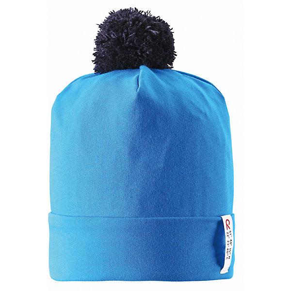Шапка для мальчика ReimaШапки и шарфы<br>Эта супер классная шапочка из хлопка для малышей и детей постарше — наш фаворит весеннего сезона! Материал Play Jersey® эффективно выводит влагу с кожи и быстро сохнет. Шапочка имеет УФ-защиту 40+ и защищает нежную детскую кожу от вредных ультрафиолетовых лучей. Продолжаем играть!<br><br>Дополнительная информация:<br><br>Шапка «Бини» для детей и малышей<br>Быстросохнущий материал Play Jersey, приятный на ощупь<br>Фактор защиты от ультрафиолета 40+<br>Логотип Reima® сбоку<br>Веселые цветовые сочетания<br>Помпон сверху<br>Состав:<br>65% ХЛ 30% ПЭ 5% ЭЛ<br>Уход:<br>Стирать и гладить, вывернув наизнанку. Cтирать с бельем одинакового цвета. Полоскать без специального средства. Стирать моющим средством, не содержащим отбеливающие вещества.  Полоскать без специального средства. Придать первоначальную форму вo влажном виде.<br>Ширина мм: 89; Глубина мм: 117; Высота мм: 44; Вес г: 155; Цвет: голубой; Возраст от месяцев: 72; Возраст до месяцев: 84; Пол: Мужской; Возраст: Детский; Размер: 54,56,48,50,52; SKU: 4498210;