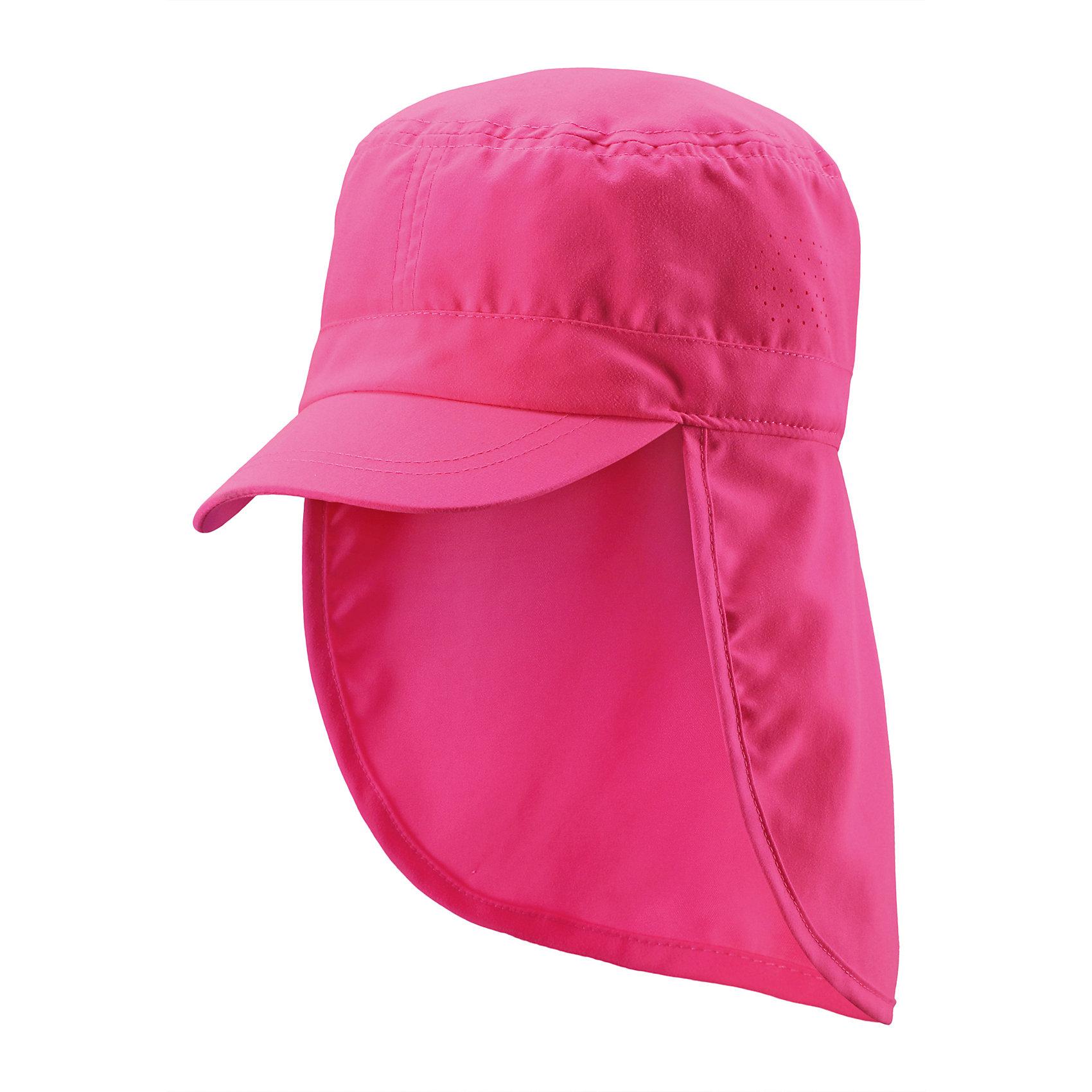 Кепка для девочки ReimaА давайте отправимся на солнечное сафари! Защитите шею и лицо с помощью классической шляпы из материала SunProof. Защитный головной убор для малышей и детей постарше разработан для разнообразнейших игр на солнце. Сделанная из водо- и грязеотталкивающего материала SunProof с УФ-фильтром 50+, шляпа обеспечивает эффективную защиту от вредных солнечных лучей.<br><br>Дополнительная информация:<br><br>Солнцезащитная панама для детей и малышей<br>Фактор защиты от ультрафиолета 50+<br>Удлинненый край изделия защищает шею<br>Боковые отверстия для вентиляции<br>Состав:<br>100% ПЭ<br>Уход:<br>Стирать по отдельности. Полоскать без специального средства. Сушить при низкой температуре.<br><br>Ширина мм: 89<br>Глубина мм: 117<br>Высота мм: 44<br>Вес г: 155<br>Цвет: розовый<br>Возраст от месяцев: 12<br>Возраст до месяцев: 24<br>Пол: Женский<br>Возраст: Детский<br>Размер: 48,50,52,56,54<br>SKU: 4498799