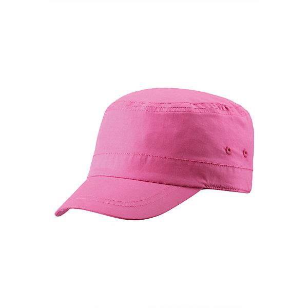 Кепка для девочки ReimaШапки и шарфы<br>Эта стильная летняя кепка для детей - прекрасный спутник в летние солнечные дни. Кепка защищает от солнечных лучей, но при этом обеспечивает ощущение легкости и комфорта при носке. Стрейчевая задняя часть обеспечивает хорошую посадку, и поможет удержать кепку на голове во время активных игр на пляже. Без подкладки.<br><br>Дополнительная информация:<br><br>Шапка для детей<br>Без подкладки<br>Эластичный кант сзади<br>Состав:<br>100% хлопок<br>Уход:<br>Стирать с бельем одинакового цвета, вывернув наизнанку. Стирать моющим средством, не содержащим отбеливающие вещества. Придать первоначальную форму вo влажном виде. Полоскать без специального средства. Сушить при низкой температуре.<br><br>Ширина мм: 89<br>Глубина мм: 117<br>Высота мм: 44<br>Вес г: 155<br>Цвет: розовый<br>Возраст от месяцев: 72<br>Возраст до месяцев: 84<br>Пол: Женский<br>Возраст: Детский<br>Размер: 54,56,52,50,48<br>SKU: 4498817