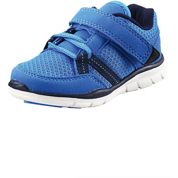 Кроссовки для мальчика ReimaКроссовки<br>Эти ботиночки, которые легко обувать и легко чистить, просто незаменимы в веселую весеннюю и летнюю пору! Модные и легкие ботинки Reima® для малышей превосходно подойдут активным маленьким любителям летних приключений. Верх изготовлен из дышащего материала из mesh-сетки, а бесшовная лайкровая подкладка защитит ножки от натирания. Благодаря эластичным шнуркам и удобному ремешку на липучке малыши смогут надеть эти ботинки сами. Благодаря широкому вырезу их очень легко надевать. Хорошая новость для мам и пап: эти сандалии пригодны для машинной стирки — одной заботой меньше! Однако помните, что для них нужно выбрать программу деликатной стирки. <br><br>Дополнительная информация:<br><br>Обувь для малышей<br>Верх из быстросохнущего текстиля и синтетических материалов<br>Эластичная и легкая подошва из ЭВА<br>Подошва, не оставляющая черных полос<br>Подкладка из лайкры для удобства использования<br>Съемные формованные стельки из ЭВА с подкладкой из лайкры и рисунком Happy Fit, который помогает определить размер<br>Простая застежка на липучке с эластичными шнурками для регулировки размера<br>Легко надеваются на ноги<br>Можно стирать в машине при температуре 30 °C<br>«Дышащая» и легкая обувь<br>Светоотражающие детали<br>Состав:<br>Подошва: EVA, резина Верх: 60% ПЭ 40% ПУ<br>Уход:<br>Храните обувь в вертикальном положении при комнатной температуре. Сушить обувь всегда следует при комнатной температуре: вынув съемные стельки. Стельки следует время от времени заменять на новые. Налипшую грязь можно счищать щеткой или влажной тряпкой. Перед использованием обувь рекомендуется обрабатывать специальными защитными средствами.<br><br>Ширина мм: 250<br>Глубина мм: 150<br>Высота мм: 150<br>Вес г: 250<br>Цвет: голубой<br>Возраст от месяцев: 12<br>Возраст до месяцев: 15<br>Пол: Мужской<br>Возраст: Детский<br>Размер: 21,23,25,27,24,26,20,22<br>SKU: 4498844