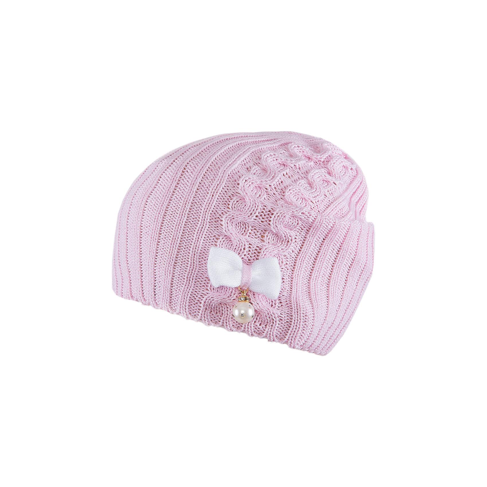 Шапка для девочки АртельШапка для девочки от торговой марки Артель <br><br>Модная шапка отлично смотрится на детях и комфортно сидит. Эта модель создана специально для девочек. Изделие выполнено из качественных материалов. Смешанный состав пряжи обеспечит износостойкость и удобство. Отличный вариант для переменной погоды межсезонья! <br>Одежда от бренда Артель – это высокое качество по приемлемой цене и всегда продуманный дизайн. <br><br>Особенности модели: <br>- цвет - розовый; <br>- украшена бантом и «жемчужиной», фактурной вязкой; <br>- пряжа смешанного состава. <br><br>Дополнительная информация: <br><br>Состав: 50% хлопок, 50% пан.<br><br><br>Температурный режим: <br>от -10 °C до +10 °C <br><br>Шапку для девочки Артель (Artel) можно купить в нашем магазине.<br><br>Ширина мм: 89<br>Глубина мм: 117<br>Высота мм: 44<br>Вес г: 155<br>Цвет: розовый<br>Возраст от месяцев: 72<br>Возраст до месяцев: 84<br>Пол: Женский<br>Возраст: Детский<br>Размер: 54,52,50<br>SKU: 4500337