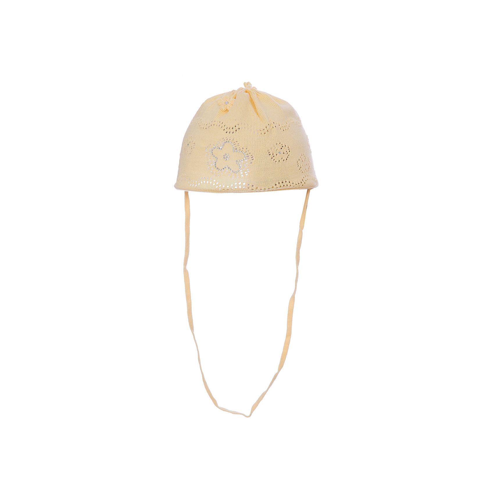 Шапка для девочки АртельШапочки<br>Шапка для девочки от торговой марки Артель <br><br>Хлопковая шапка для самых маленьких отлично смотрится на детях и комфортно сидит. Эта модель создана специально для девочек. Изделие выполнено из качественных материалов.<br>Одежда от бренда Артель – это высокое качество по приемлемой цене и всегда продуманный дизайн. <br><br>Особенности модели: <br>- цвет — желтый; <br>- украшена объемными текстильными цветами и блестящими элементами; <br>- завязки внизу; <br>- натуральный хлопок. <br><br>Дополнительная информация: <br><br>Состав: 100% хлопок.<br><br>Шапку для девочки Артель (Artel) можно купить в нашем магазине.<br><br>Ширина мм: 89<br>Глубина мм: 117<br>Высота мм: 44<br>Вес г: 155<br>Цвет: желтый<br>Возраст от месяцев: 3<br>Возраст до месяцев: 4<br>Пол: Женский<br>Возраст: Детский<br>Размер: 42,36,46,44,40,38<br>SKU: 4500417