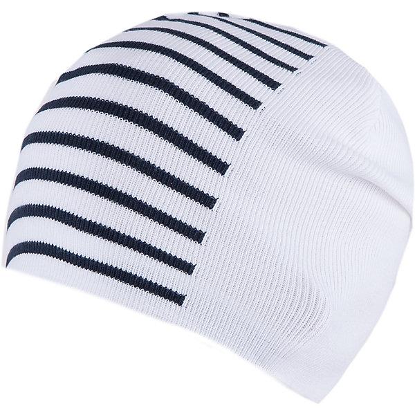 Шапка для мальчика АртельГоловные уборы<br>Шапка для мальчика от торговой марки Артель <br><br>Стильная полосатая шапка отлично смотрится с разным нарядами. Изделие выполнено из качественных материалов, вязка плотная. Натуральный хлопок обеспечит износостойкость и удобство. Отличный вариант для переменной погоды межсезонья! <br>Одежда от бренда Артель – это высокое качество по приемлемой цене и всегда продуманный дизайн. <br><br>Особенности модели: <br>- цвет — белый; <br>- в полоску; <br>- натуральный хлопок. <br><br>Дополнительная информация: <br><br>Состав: 100% хлопок.<br><br><br>Температурный режим: <br>От -5 °C до +10 °C <br><br>Шапку для мальчика Артель (Artel) можно купить в нашем магазине.<br><br>Ширина мм: 89<br>Глубина мм: 117<br>Высота мм: 44<br>Вес г: 155<br>Цвет: белый<br>Возраст от месяцев: 96<br>Возраст до месяцев: 108<br>Пол: Мужской<br>Возраст: Детский<br>Размер: 56,54,52<br>SKU: 4500475