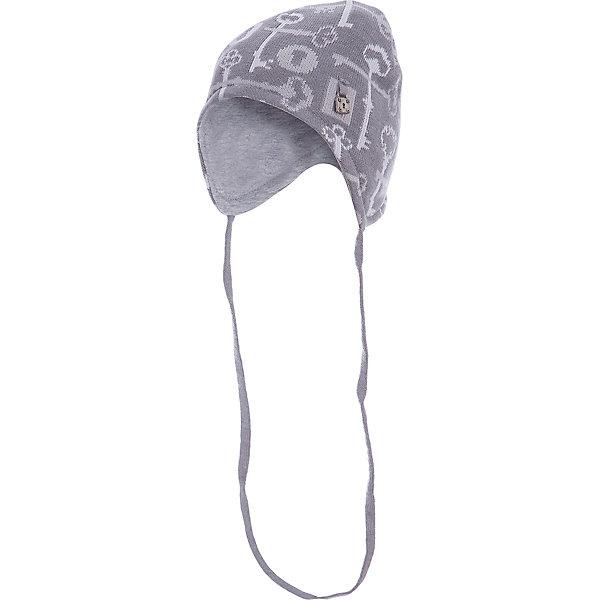 Шапка для мальчика АртельШапочки<br>Шапка для мальчика от торговой марки Артель <br><br>Теплая шапка для малышей отлично смотрится на детях и комфортно сидит. Изделие выполнено из качественных материалов, вязка плотная. Натуральный хлопок обеспечит износостойкость и удобство. Отличный вариант для переменной погоды межсезонья! <br>Одежда от бренда Артель – это высокое качество по приемлемой цене и всегда продуманный дизайн. <br><br>Особенности модели: <br>- цвет - серый; <br>- есть завязки; <br>- украшена принтом; <br>- подкладка — натуральный хлопок. <br><br>Дополнительная информация: <br><br>Состав: верх — 50%хлопок, 50% пан, подкладка - 100% хлопок.<br><br><br>Температурный режим: <br>От -5 °C до +10 °C <br><br>Шапку для мальчика Артель (Artel) можно купить в нашем магазине.<br>Ширина мм: 89; Глубина мм: 117; Высота мм: 44; Вес г: 155; Цвет: серый; Возраст от месяцев: 4; Возраст до месяцев: 6; Пол: Мужской; Возраст: Детский; Размер: 44,42,46,48; SKU: 4500495;