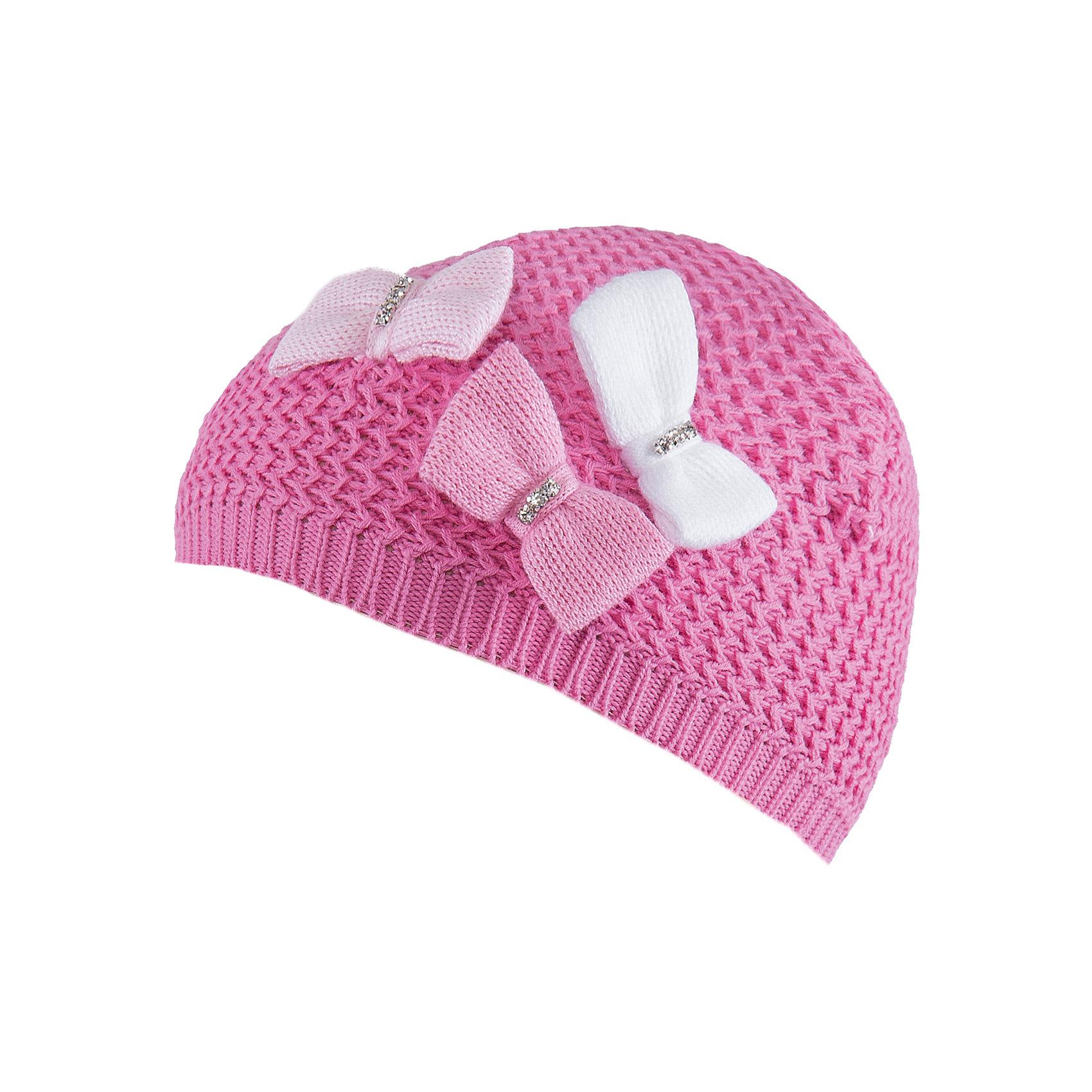 Шапка для девочки АртельШапка для девочки от торговой марки Артель <br><br>Модная шапка отлично смотрится на детях и комфортно сидит. Эта модель создана специально для девочек. Изделие выполнено из качественных материалов. Отличный вариант для переменной погоды межсезонья! <br>Одежда от бренда Артель – это высокое качество по приемлемой цене и всегда продуманный дизайн. <br><br>Особенности модели: <br>- цвет — розовый; <br>- украшена текстильными бантами; <br>- натуральный хлопок. <br><br>Дополнительная информация: <br><br>Состав: 100% хлопок.<br><br><br>Температурный режим: <br>от -10 °C до +10 °C <br><br>Шапку для девочки Артель (Artel) можно купить в нашем магазине.<br><br>Ширина мм: 89<br>Глубина мм: 117<br>Высота мм: 44<br>Вес г: 155<br>Цвет: розовый<br>Возраст от месяцев: 60<br>Возраст до месяцев: 72<br>Пол: Женский<br>Возраст: Детский<br>Размер: 52,48,46,50<br>SKU: 4500505