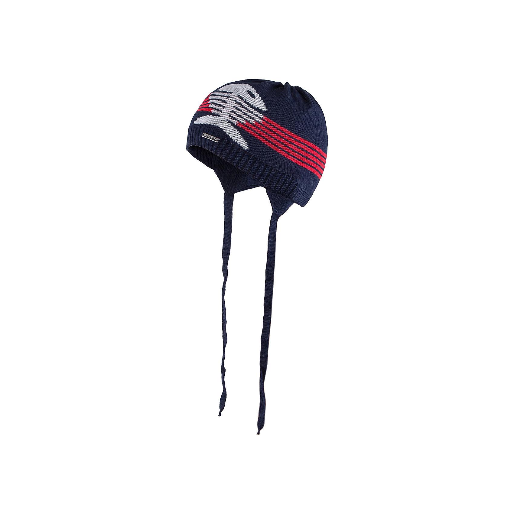 Шапка для мальчика АртельШапка для мальчика от торговой марки Артель <br><br>Модная шапка отлично смотрится на детях, обеспечивает комфорт и тепло. Изделие выполнено из качественных материалов, вязка плотная. Смешанный состав пряжи обеспечит износостойкость и удобство. Отличный вариант для переменной погоды межсезонья! <br>Одежда от бренда Артель – это высокое качество по приемлемой цене и всегда продуманный дизайн. <br><br>Особенности модели: <br>- цвет — синий; <br>- украшена вывязанной рыбой;<br>- пряжа смешанного состава. <br><br>Дополнительная информация: <br><br>Состав: 50% хлопок, 50% пан.<br><br><br>Температурный режим: <br>От -5 °C до +15 °C <br><br>Шапку для мальчика Артель (Artel) можно купить в нашем магазине.<br><br>Ширина мм: 89<br>Глубина мм: 117<br>Высота мм: 44<br>Вес г: 155<br>Цвет: синий<br>Возраст от месяцев: 9<br>Возраст до месяцев: 12<br>Пол: Мужской<br>Возраст: Детский<br>Размер: 46,52,50,48<br>SKU: 4500510