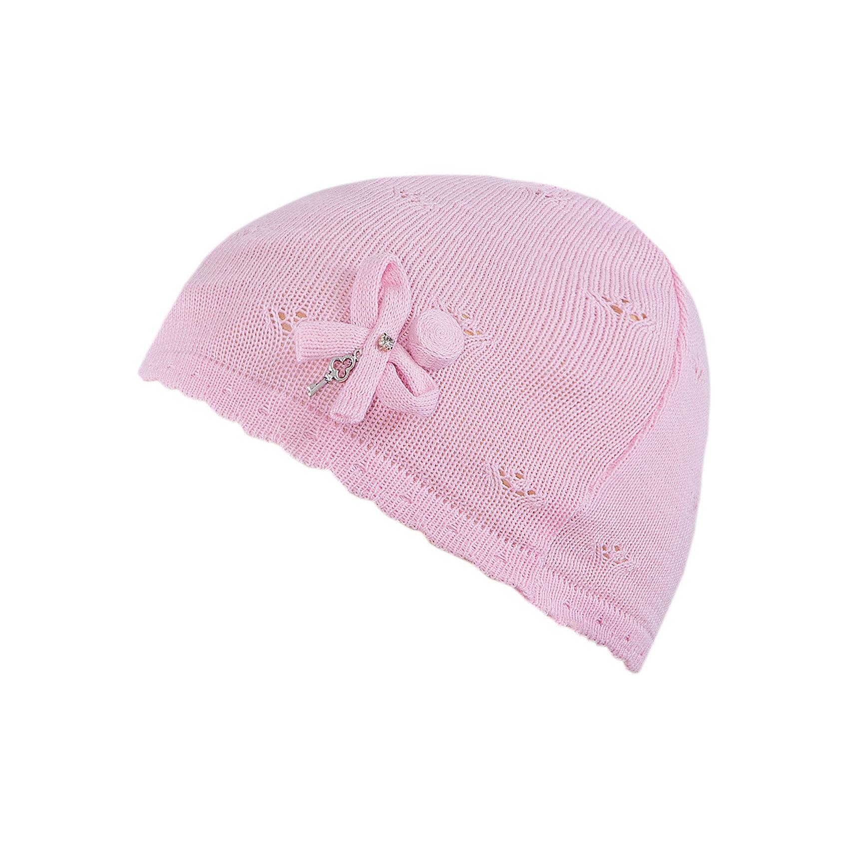 Шапка для девочки АртельГоловные уборы<br>Шапка для девочки от торговой марки Артель <br><br>Ажурная шапка отлично смотрится на детях и комфортно сидит. Эта модель создана специально для девочек. Изделие выполнено из качественных материалов.<br>Одежда от бренда Артель – это высокое качество по приемлемой цене и всегда продуманный дизайн. <br><br>Особенности модели: <br>- цвет — розовый; <br>- украшена бантом; <br>- натуральный хлопок с добавкой пана. <br><br>Дополнительная информация: <br><br>Состав: 50% хлопок, 50% пан.<br><br>Шапку для девочки Артель (Artel) можно купить в нашем магазине.<br><br>Ширина мм: 89<br>Глубина мм: 117<br>Высота мм: 44<br>Вес г: 155<br>Цвет: розовый<br>Возраст от месяцев: 4<br>Возраст до месяцев: 6<br>Пол: Женский<br>Возраст: Детский<br>Размер: 44,50,52,48,46<br>SKU: 4500523