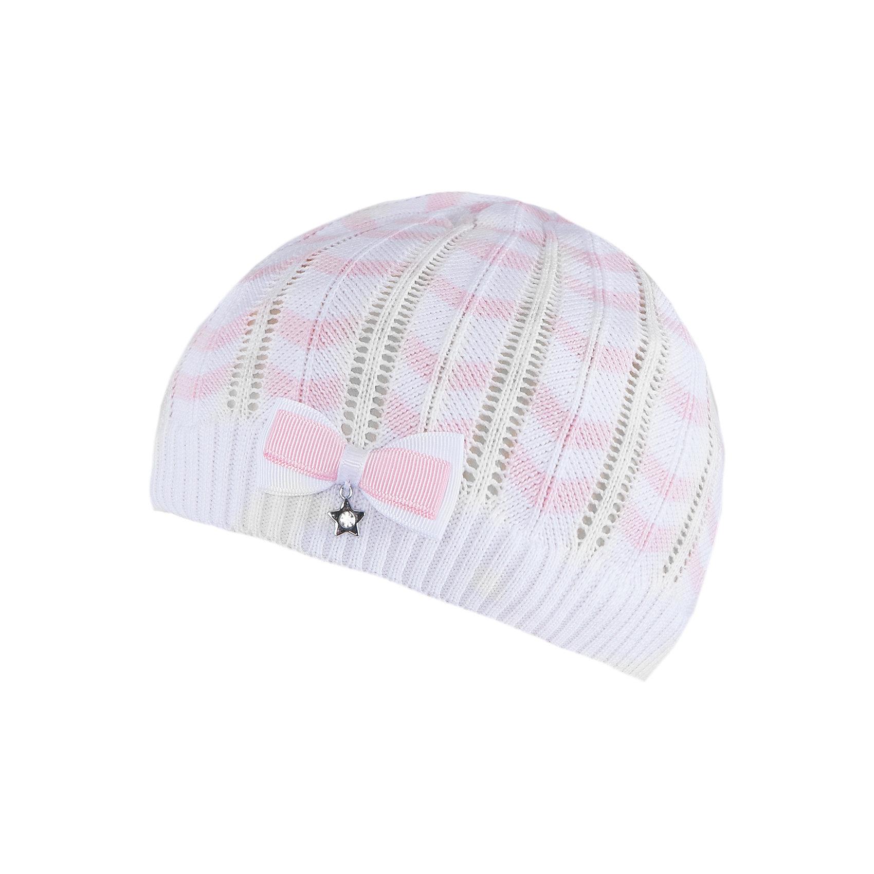 Шапка для девочки АртельШапка для девочки от торговой марки Артель <br><br>Ажурная шапка отлично смотрится на детях и комфортно сидит. Эта модель создана специально для девочек. Изделие выполнено из качественных материалов.<br>Одежда от бренда Артель – это высокое качество по приемлемой цене и всегда продуманный дизайн. <br><br>Особенности модели: <br>- цвет — белый; <br>- украшена бантом; <br>- натуральный хлопок с добавкой пана. <br><br>Дополнительная информация: <br><br>Состав: 50% хлопок, 50% пан.<br><br>Шапку для девочки Артель (Artel) можно купить в нашем магазине.<br><br>Ширина мм: 89<br>Глубина мм: 117<br>Высота мм: 44<br>Вес г: 155<br>Цвет: белый<br>Возраст от месяцев: 18<br>Возраст до месяцев: 24<br>Пол: Женский<br>Возраст: Детский<br>Размер: 48,50,54,52<br>SKU: 4500541
