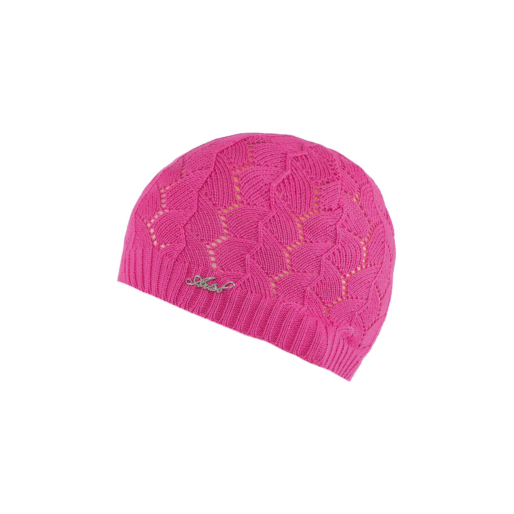 Шапка для девочки АртельШапка для девочки от торговой марки Артель <br><br>Нежная ажурная шапка отлично смотрится на детях и комфортно сидит. Эта модель создана специально для девочек. Изделие выполнено из качественных материалов.<br>Одежда от бренда Артель – это высокое качество по приемлемой цене и всегда продуманный дизайн. <br><br>Особенности модели: <br>- цвет — розовый; <br>- украшена блестящим логотипом; <br>- натуральный хлопок с добавкой пана. <br><br>Дополнительная информация: <br><br>Состав: 50% хлопок, 50% пан.<br><br>Шапку для девочки Артель (Artel) можно купить в нашем магазине.<br><br>Ширина мм: 89<br>Глубина мм: 117<br>Высота мм: 44<br>Вес г: 155<br>Цвет: розовый<br>Возраст от месяцев: 72<br>Возраст до месяцев: 84<br>Пол: Женский<br>Возраст: Детский<br>Размер: 54,56,52,50<br>SKU: 4500583