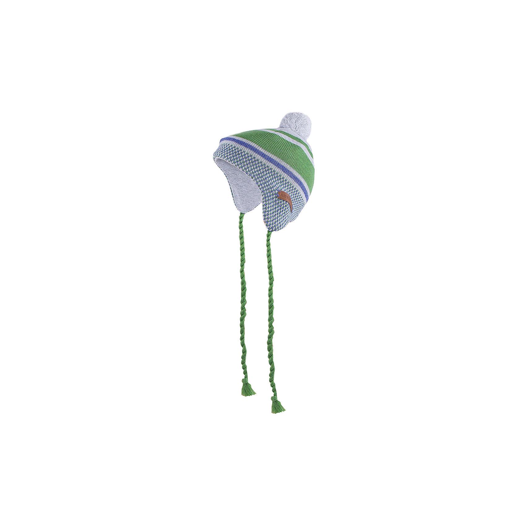 Шапка для мальчика АртельШапка для мальчика от торговой марки Артель <br><br>Модная шапка отлично смотрится на детях, обеспечивает комфорт и тепло. Изделие выполнено из качественных материалов, вязка плотная. Смешанный состав пряжи обеспечит износостойкость и удобство. Отличный вариант для переменной погоды межсезонья! <br>Одежда от бренда Артель – это высокое качество по приемлемой цене и всегда продуманный дизайн. <br><br>Особенности модели: <br>- цвет — серый; <br>- есть завязки; <br>- украшена бомбошкой;<br>- подкладка из натурального хлопка; <br>- пряжа смешанного состава. <br><br>Дополнительная информация: <br><br>Состав: 50% хлопок, 50% пан; подкладка — 100% хлопок.<br><br>Температурный режим: <br>От -15 °C до +5 °C <br><br>Шапку для мальчика Артель (Artel) можно купить в нашем магазине.<br><br>Ширина мм: 89<br>Глубина мм: 117<br>Высота мм: 44<br>Вес г: 155<br>Цвет: серый<br>Возраст от месяцев: 18<br>Возраст до месяцев: 24<br>Пол: Мужской<br>Возраст: Детский<br>Размер: 48,50,54,52,46<br>SKU: 4500664