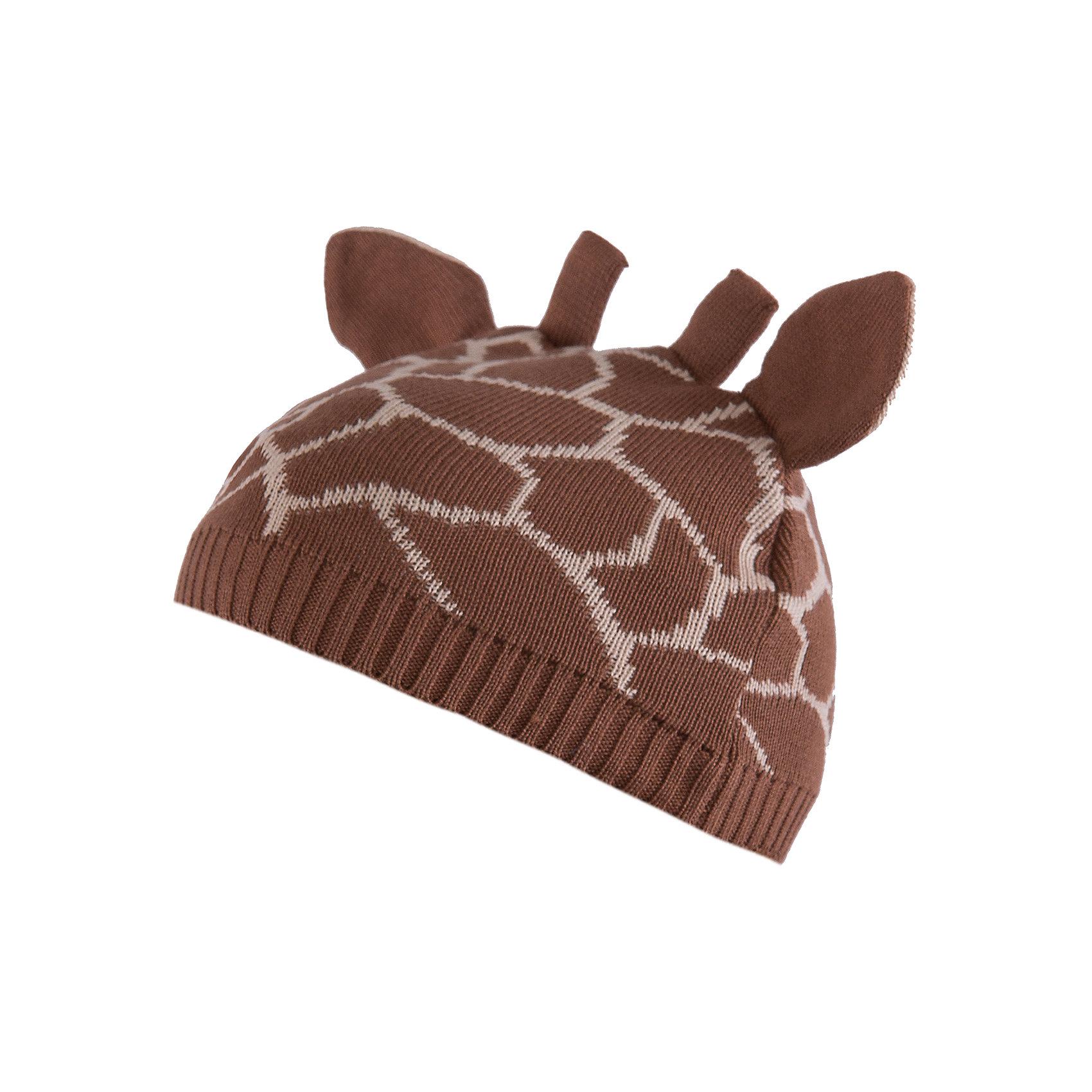 Шапка АртельШапочки<br>Шапка от торговой марки Артель <br><br>Мягкая теплая шапка отлично смотрится на детях и комфортно сидит. Оригинальный дизайн делает ребенка еще более милым. Изделие выполнено из качественных материалов.<br>Одежда от бренда Артель – это высокое качество по приемлемой цене и всегда продуманный дизайн. <br><br>Особенности модели: <br>- цвет — коричневый; <br>- украшена рожками ушками как у жирафа и соответствующим принтом; <br>- натуральный хлопок с добавкой пана. <br><br>Дополнительная информация: <br><br>Состав: верх - 50% хлопок, 50% пан;<br>Подкладка - 100% хлопок.<br><br>Температурный режим: <br>от -10 °C до +10 °C <br><br>Шапку Артель (Artel) можно купить в нашем магазине.<br><br>Ширина мм: 89<br>Глубина мм: 117<br>Высота мм: 44<br>Вес г: 155<br>Цвет: коричневый<br>Возраст от месяцев: 4<br>Возраст до месяцев: 6<br>Пол: Унисекс<br>Возраст: Детский<br>Размер: 44,52,50,48,46<br>SKU: 4500703