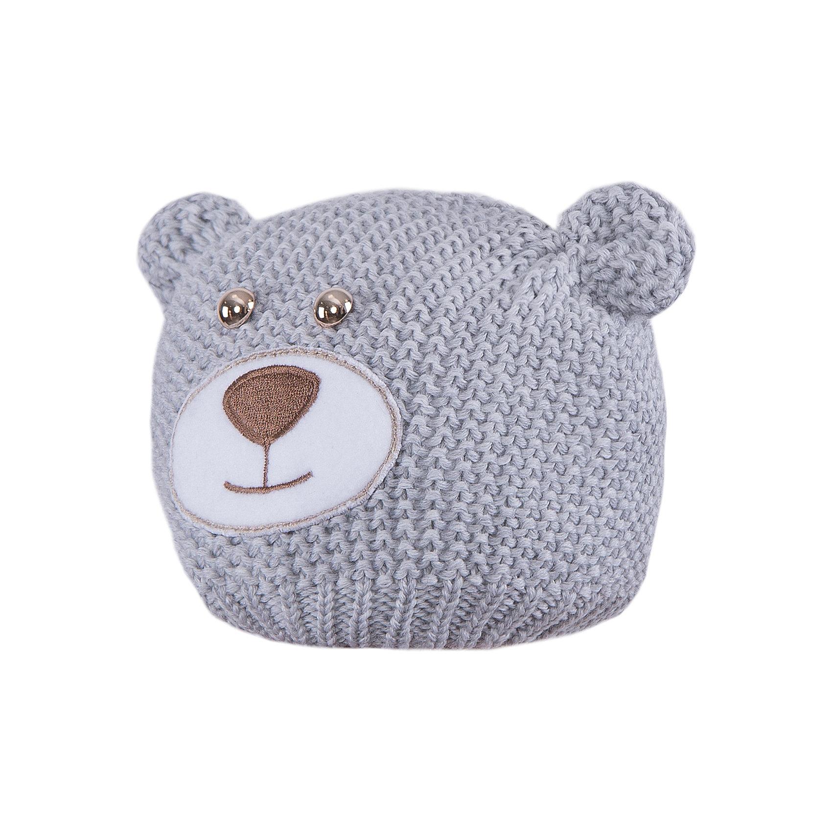 Шапка АртельШапка от торговой марки Артель <br><br>Симпатичная вязаная шапка в виде медвежонка делает ребенка еще более милым. Изделие выполнено из качественной натуральной шерсти, мягкой и теплой.<br>Одежда от бренда Артель – это высокое качество по приемлемой цене и всегда продуманный дизайн. <br><br>Особенности модели: <br>- цвет — серый; <br>- украшена ушками как у медвежонка и соответствующей вышивкой; <br>- натуральная шерсть. <br><br>Дополнительная информация: <br><br>Состав: 100% шерсть.<br><br>Температурный режим: <br>от -10 °C до +10 °C <br><br>Шапку Артель (Artel) можно купить в нашем магазине.<br><br>Ширина мм: 89<br>Глубина мм: 117<br>Высота мм: 44<br>Вес г: 155<br>Цвет: серый<br>Возраст от месяцев: 4<br>Возраст до месяцев: 6<br>Пол: Унисекс<br>Возраст: Детский<br>Размер: 44,42,46<br>SKU: 4500715