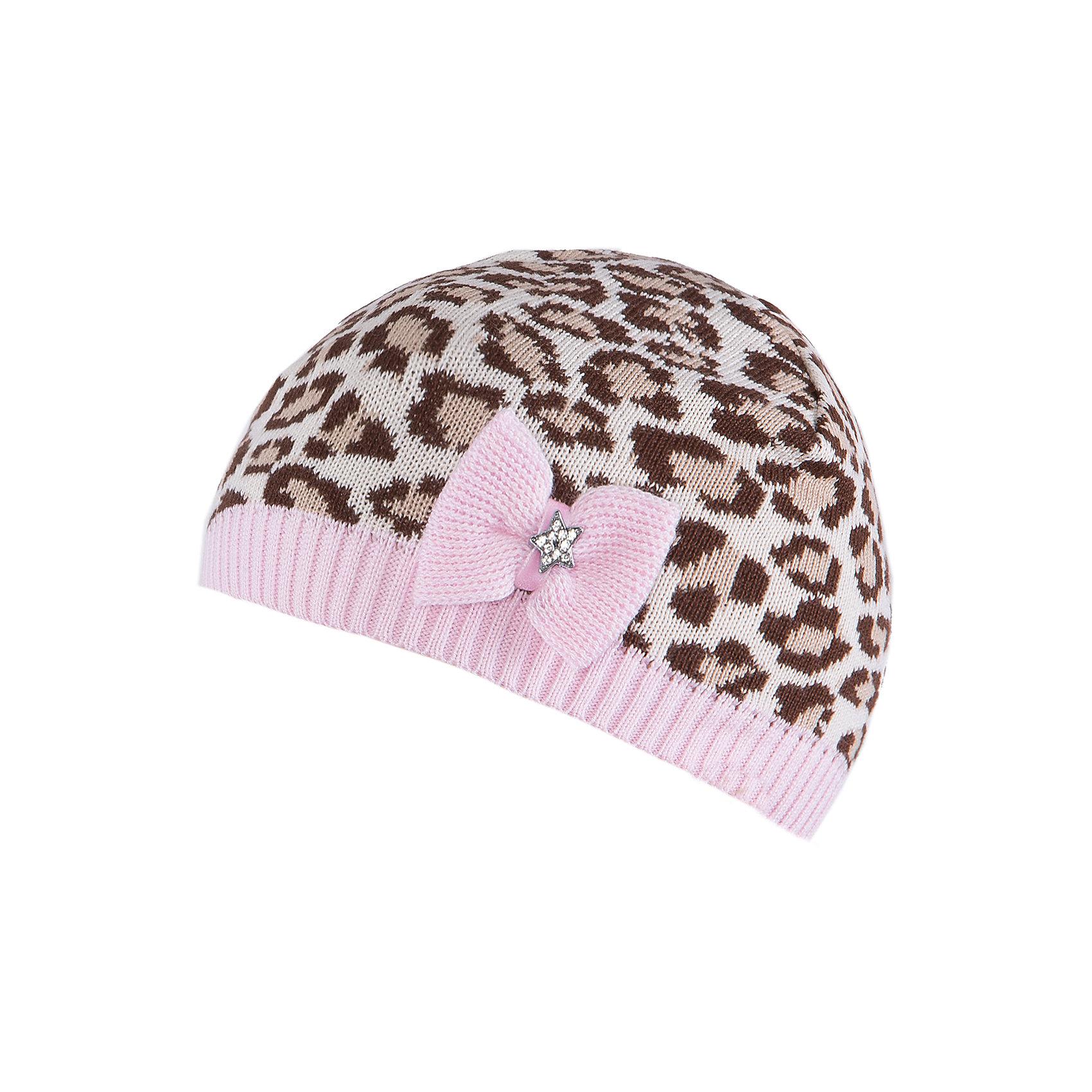 Шапка для девочки АртельШапка для девочки от торговой марки Артель <br><br>Оригинальная шапка с животным принтом отлично смотрится на детях и комфортно сидит. Эта модель создана специально для девочек. Изделие выполнено из качественных материалов.<br>Одежда от бренда Артель – это высокое качество по приемлемой цене и всегда продуманный дизайн. <br><br>Особенности модели: <br>- цвет — розовый; <br>- украшена бантиком и стразами; <br>- натуральный хлопок с добавкой пана. <br><br>Дополнительная информация: <br><br>Состав: 50% хлопок, 50% пан.<br><br>Температурный режим: <br>От -5 °C до +15 °C <br><br>Шапку для девочки Артель (Artel) можно купить в нашем магазине.<br><br>Ширина мм: 89<br>Глубина мм: 117<br>Высота мм: 44<br>Вес г: 155<br>Цвет: розовый<br>Возраст от месяцев: 72<br>Возраст до месяцев: 84<br>Пол: Женский<br>Возраст: Детский<br>Размер: 54,48,52,50<br>SKU: 4500728