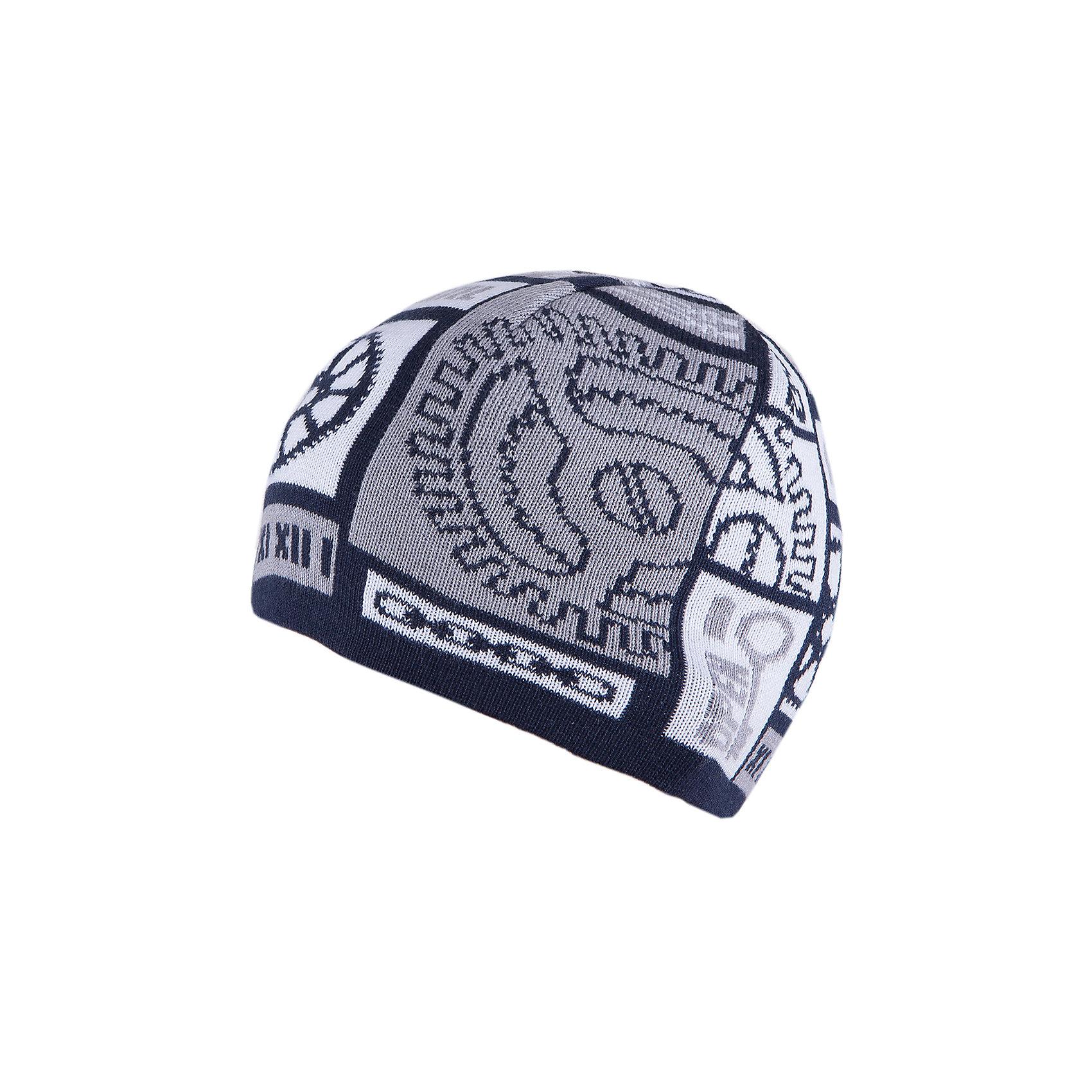Шапка для мальчика АртельШапка для мальчика от торговой марки Артель <br><br>Модная шапка отлично смотрится на детях, обеспечивает комфорт и тепло. Изделие выполнено из качественных материалов, вязка плотная. Смешанный состав пряжи обеспечит износостойкость и удобство. Отличный вариант для переменной погоды межсезонья! <br>Одежда от бренда Артель – это высокое качество по приемлемой цене и всегда продуманный дизайн. <br><br>Особенности модели: <br>- цвет — синий; <br>- украшена вывязанным рисунком;<br>- пряжа смешанного состава. <br><br>Дополнительная информация: <br><br>Состав: 50% хлопок, 50% пан.<br><br><br>Температурный режим: <br>От -5 °C до +15 °C <br><br>Шапку для мальчика Артель (Artel) можно купить в нашем магазине.<br><br>Ширина мм: 89<br>Глубина мм: 117<br>Высота мм: 44<br>Вес г: 155<br>Цвет: синий<br>Возраст от месяцев: 60<br>Возраст до месяцев: 72<br>Пол: Мужской<br>Возраст: Детский<br>Размер: 52,50,54<br>SKU: 4500771