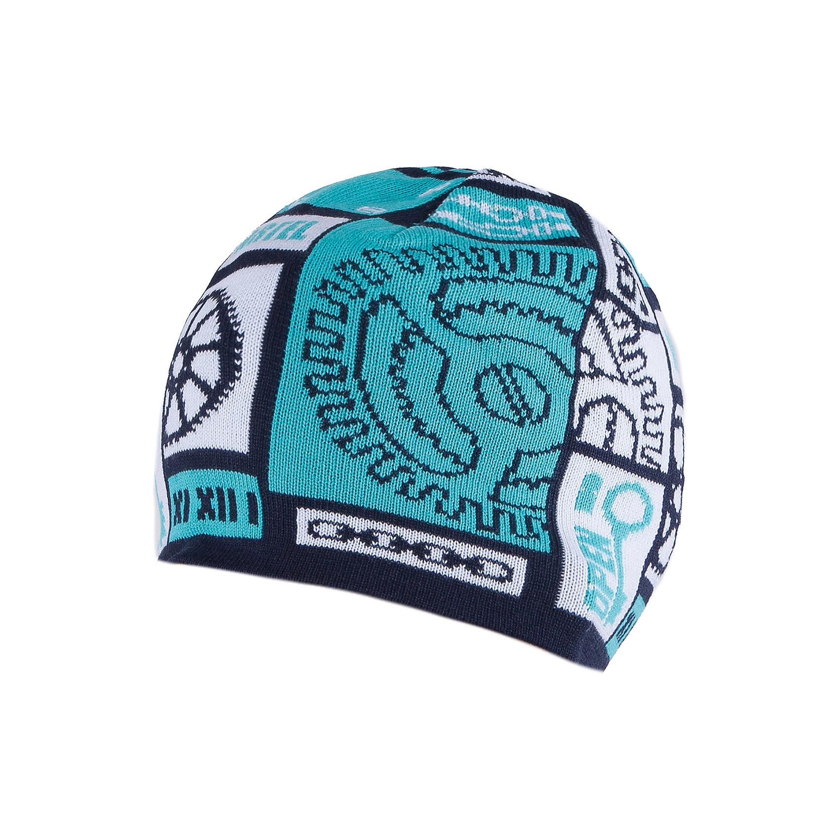 Шапка для мальчика АртельШапка для мальчика от торговой марки Артель <br><br>Модная шапка отлично смотрится на детях, обеспечивает комфорт и тепло. Изделие выполнено из качественных материалов, вязка плотная. Смешанный состав пряжи обеспечит износостойкость и удобство. Отличный вариант для переменной погоды межсезонья! <br>Одежда от бренда Артель – это высокое качество по приемлемой цене и всегда продуманный дизайн. <br><br>Особенности модели: <br>- цвет — бирюзовый; <br>- украшена вывязанным рисунком;<br>- пряжа смешанного состава. <br><br>Дополнительная информация: <br><br>Состав: 50% хлопок, 50% пан.<br><br><br>Температурный режим: <br>От -5 °C до +15 °C <br><br>Шапку для мальчика Артель (Artel) можно купить в нашем магазине.<br><br>Ширина мм: 89<br>Глубина мм: 117<br>Высота мм: 44<br>Вес г: 155<br>Цвет: синий<br>Возраст от месяцев: 60<br>Возраст до месяцев: 72<br>Пол: Мужской<br>Возраст: Детский<br>Размер: 52,54,50<br>SKU: 4500779