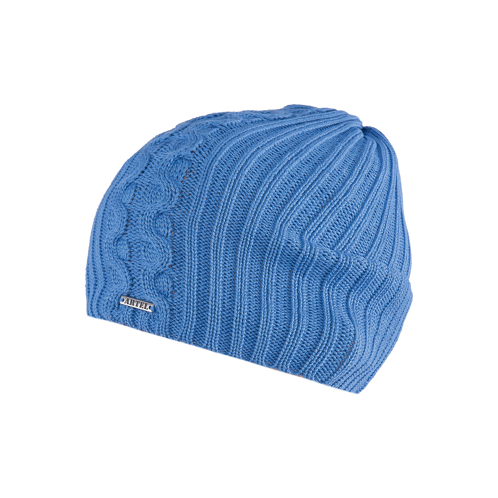 Шапка для мальчика АртельШапка для мальчика от торговой марки Артель <br><br>Стильная теплая шапка отлично смотрится на детях, обеспечивает комфорт и тепло. Изделие выполнено из качественных материалов, вязка плотная. Смешанный состав пряжи обеспечит износостойкость и удобство. Отличный вариант для переменной погоды межсезонья! <br>Одежда от бренда Артель – это высокое качество по приемлемой цене и всегда продуманный дизайн. <br><br>Особенности модели: <br>- цвет — ультрамарин; <br>- украшена металлическим логотипом;<br>- пряжа смешанного состава. <br><br>Дополнительная информация: <br><br>Состав: 50% хлопок, 50% пан.<br><br><br>Температурный режим: <br>От -5 °C до +15 °C <br><br>Шапку для мальчика Артель (Artel) можно купить в нашем магазине.<br><br>Ширина мм: 89<br>Глубина мм: 117<br>Высота мм: 44<br>Вес г: 155<br>Цвет: синий<br>Возраст от месяцев: 72<br>Возраст до месяцев: 84<br>Пол: Мужской<br>Возраст: Детский<br>Размер: 54,52,50<br>SKU: 4500783