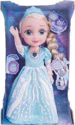 Кукла Эльза, со светящимся амулетом и платьем , 35 см, Холодное сердце, Карапуз