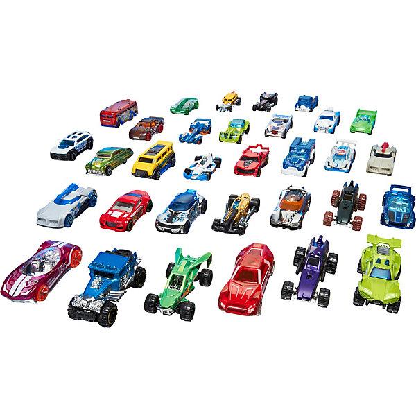 Базовые машинки (упаковка из 20-ти), Hot WheelsМашинки<br>В этом невероятном наборе 20 автомобилей и в 20 раз больше веселья! Модели, выполненные в масштабе 1:64, придутся по вкусу как коллекционерам, так и обычным автолюбителям. В набор входят и новые модели, и авто-хиты прошлых лет. В наборы из 20 машин (продаются отдельно) входят гоночные и классические автомобили, а также ни на что не похожие багги, хот-роды, Hot Wheels Originals и многое другое.<br><br>Дополнительная информация:<br><br>- Материал: пластик, металл.<br>- 20 машинок в комплекте.<br>- Масштаб: 1:64<br>- Наборы в ассортименте.<br><br>ВНИМАНИЕ! Данный артикул представлен в разных вариантах исполнения. К сожалению, заранее выбрать определенный вариант невозможно. При заказе нескольких наборов, возможно получение одинаковых.<br><br>Базовые машинки (упаковка из 20-ти), Hot Wheels (Хот Вилс), можно купить в нашем магазине.<br><br>Ширина мм: 40<br>Глубина мм: 465<br>Высота мм: 220<br>Вес г: 1000<br>Возраст от месяцев: 36<br>Возраст до месяцев: 84<br>Пол: Мужской<br>Возраст: Детский<br>SKU: 4500810
