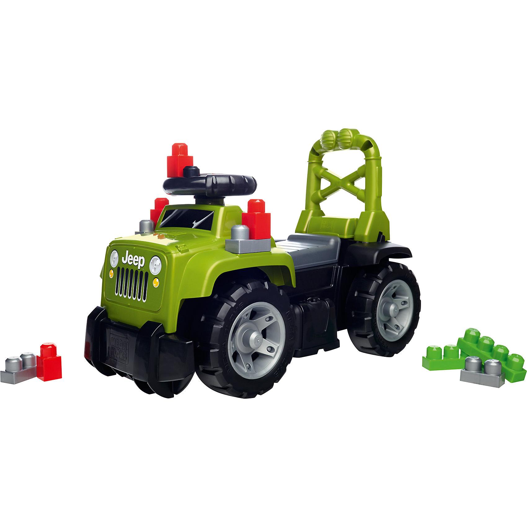 Большой зеленый джип 3-в-1, MEGA BLOKSМашинки-каталки<br>Большой зеленый джип обязательно понравится малышам! Машина имеет удобную спинку, за которую малыш сможет держаться, используя игрушку как ходунки. Объемный отсек под сиденьем вмещает 10 тематических блоков First Builders, с которыми очень интересно играть. На руле расположены кнопки, имитирующие звуки настоящей машины, что сделает игру еще увлекательнее. <br><br>Дополнительная информация:<br><br>- Комплектация: машина, 10 блоков. <br>- Материал: пластик.<br>- Высокая ручка-спинка.<br>- Отсек для блоков под сиденьем. <br>- Звуковые эффекты. <br>- Элемент питания: 2 АА батарейки (не входят в комплект).<br><br>Большой зеленый джип 3-в-1, MEGA BLOKS (Мега Блок) можно купить в нашем магазине.<br><br>Ширина мм: 595<br>Глубина мм: 305<br>Высота мм: 345<br>Вес г: 0<br>Возраст от месяцев: 36<br>Возраст до месяцев: 84<br>Пол: Мужской<br>Возраст: Детский<br>SKU: 4500816