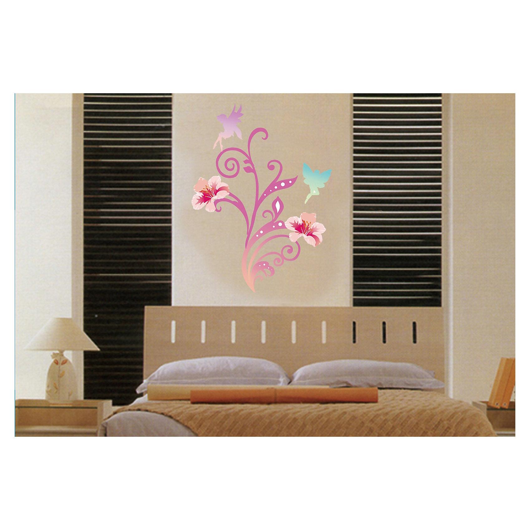 Настенное украшение Волшебный мир 35*52 см (розовый)Предметы интерьера<br>Декоративное настенное украшение в виде фей и бабочек поможет украсить дом и отлично впишется в любой интерьер. Украшение состоит из 21 элемента на клеевой основе.<br><br>Дополнительная информация:<br><br>- Материал: ПВХ.<br>- Размер: 35х52 см.<br>- Комплектация: 21 самоклеющийся элемент.<br>- Цвет: розовый.<br><br>Настенное украшение Волшебный мир 35х52 см (розовое) можно купить в нашем магазине.<br><br>Ширина мм: 5<br>Глубина мм: 520<br>Высота мм: 350<br>Вес г: 213<br>Возраст от месяцев: 36<br>Возраст до месяцев: 2147483647<br>Пол: Женский<br>Возраст: Детский<br>SKU: 4501150