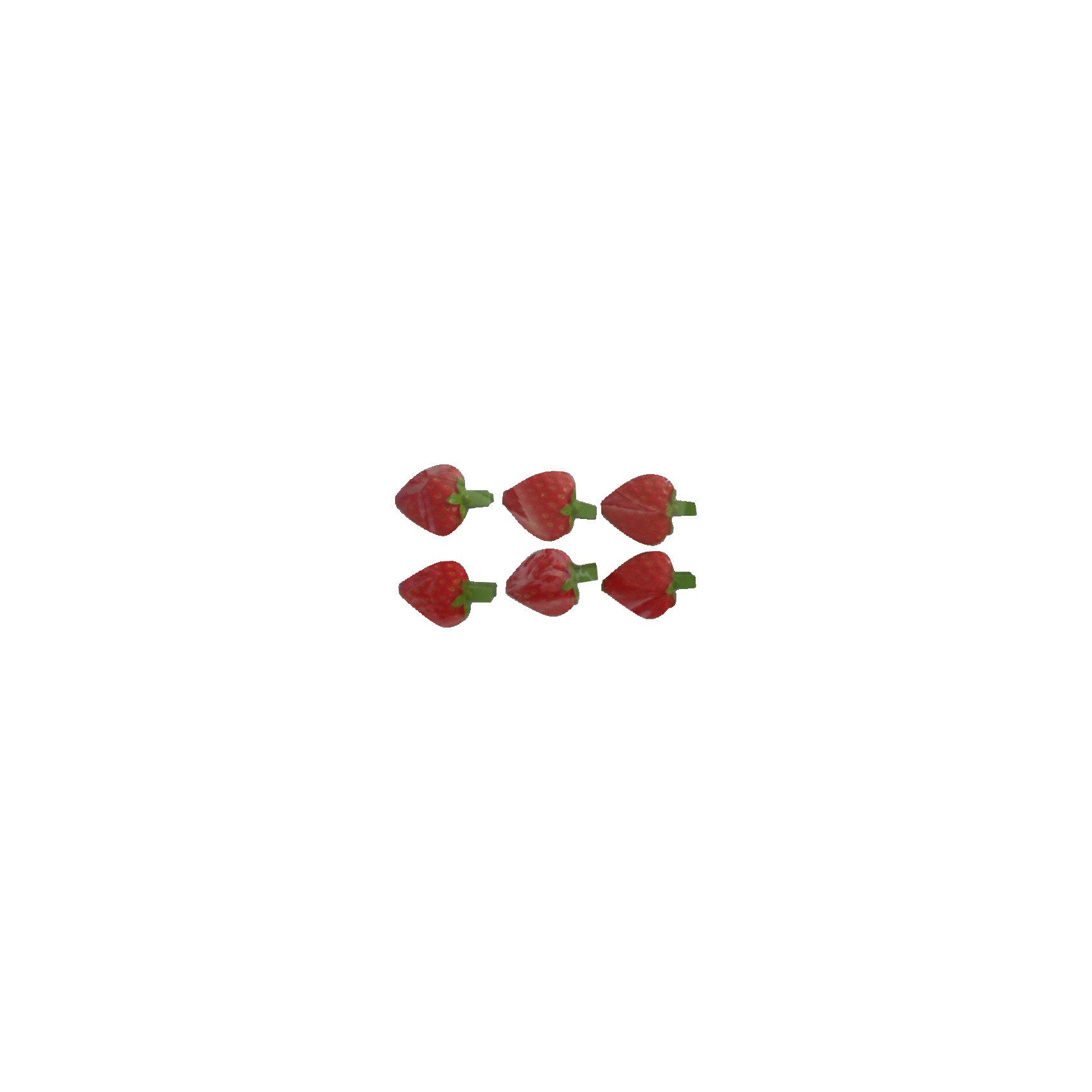 """Набор декоративных прищепок """"Клубничные сердечки"""" 6 шт от myToys"""
