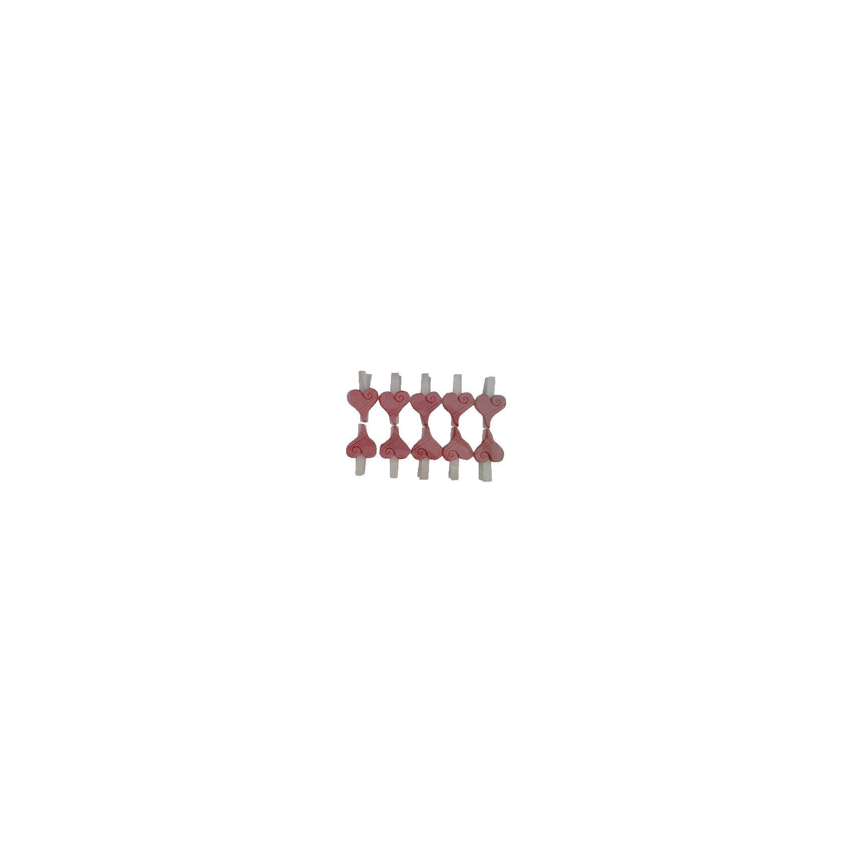 Набор декоративных прищепок Красные сердечки 10 штПредметы интерьера<br>Декоративная прищепка станет приятным дополнением к любому подарку, с помощью нее вы легко украсите подарок, сделаете упаковку оригинальной, нарядной и запоминающейся. <br><br>Дополнительная информация:<br><br>- Материал: дерево, полирезина.<br>- 10 штук в наборе.<br>- Размер упаковки: 14,2х9,6х2,3 см.<br>- Цвет: красный, белый.<br><br>Набор декоративных прищепок Красные сердечки, 10 шт, можно купить в нашем магазине.<br><br>Ширина мм: 140<br>Глубина мм: 180<br>Высота мм: 240<br>Вес г: 80<br>Возраст от месяцев: 36<br>Возраст до месяцев: 2147483647<br>Пол: Женский<br>Возраст: Детский<br>SKU: 4501155