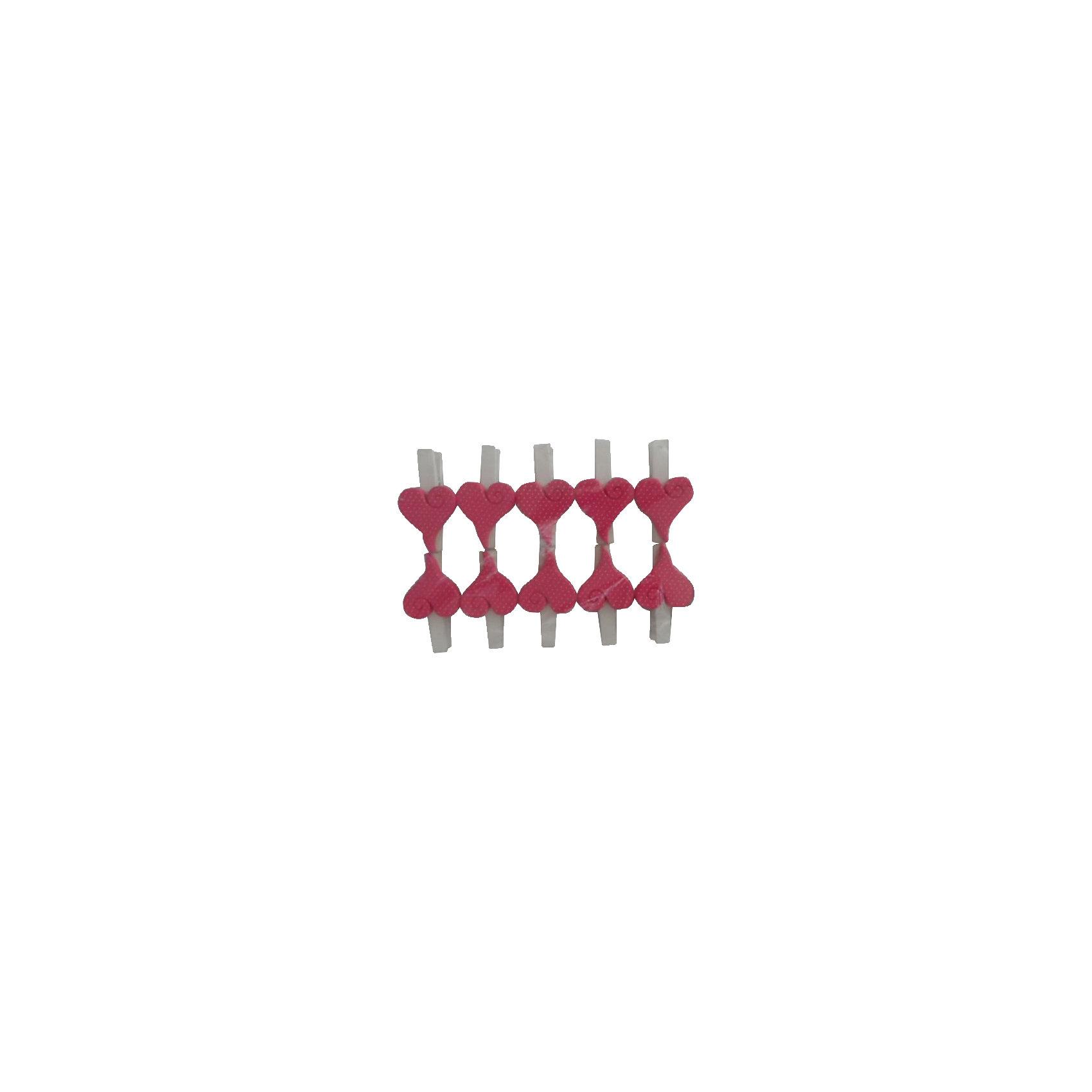 Набор декоративных прищепок Розовые сердечки 10 штНабор декоративных прищепок Розовые сердечки замечательно украсит Ваш интерьер и поможет красиво оформить домашний праздник или вечеринку. Они прекрасно подойдут для развешивания на веревке стикеров, маленьких игрушек и различных украшений. Прищепки<br>выполнены из окрашенной древесины березы и декорированы фигурками из полирезины в виде ярких розовых сердечек. В комплект входят 10 прищепок. <br><br>Дополнительная информация:<br><br>- В комплекте: 10 шт.<br>- Материал: древесина березы, полирезина. <br>- Размер упаковки: 14,2 х 9,6 х 2,3 см.<br>- Вес: 82 гр.<br><br>Набор декоративных прищепок Розовые сердечки 10 шт., Феникс-презент, можно купить в нашем интернет-магазине.<br><br>Ширина мм: 140<br>Глубина мм: 180<br>Высота мм: 240<br>Вес г: 82<br>Возраст от месяцев: 36<br>Возраст до месяцев: 2147483647<br>Пол: Женский<br>Возраст: Детский<br>SKU: 4501159