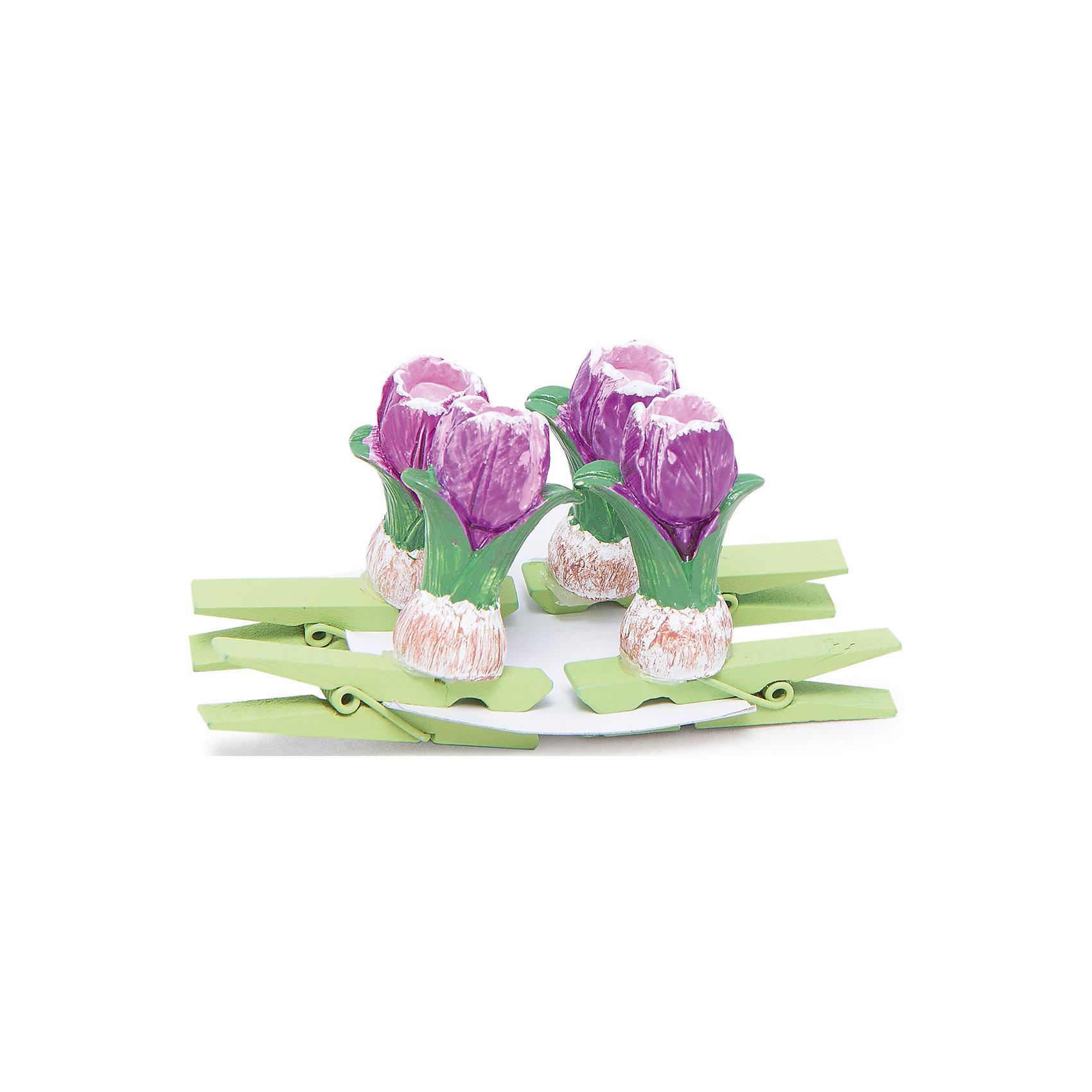 Декоративное украшение Тюльпаны 4 штДетские предметы интерьера<br>Декоративные украшения Тюльпаны замечательно дополнят интерьер дома или офиса и помогут красиво оформить праздник или вечеринку. Украшения выполнены в виде прищепок из древесины березы и декорированы фигурками ярких тюльпанов из полирезины. Они прекрасно подойдут для развешивания на веревке стикеров, различных украшений и маленьких игрушек. В комплект входят 4 украшения. <br><br>Дополнительная информация:<br><br>- В комплекте: 4 шт.<br>- Материал: древесина березы, полирезина. <br>- Размер упаковки: 9,6 х 5,5 х 9 см.<br>- Вес: 67 гр.<br><br>Декоративное украшение Тюльпаны 4 шт., Феникс-презент, можно купить в нашем интернет-магазине.<br><br>Ширина мм: 120<br>Глубина мм: 170<br>Высота мм: 210<br>Вес г: 67<br>Возраст от месяцев: 36<br>Возраст до месяцев: 2147483647<br>Пол: Женский<br>Возраст: Детский<br>SKU: 4501162