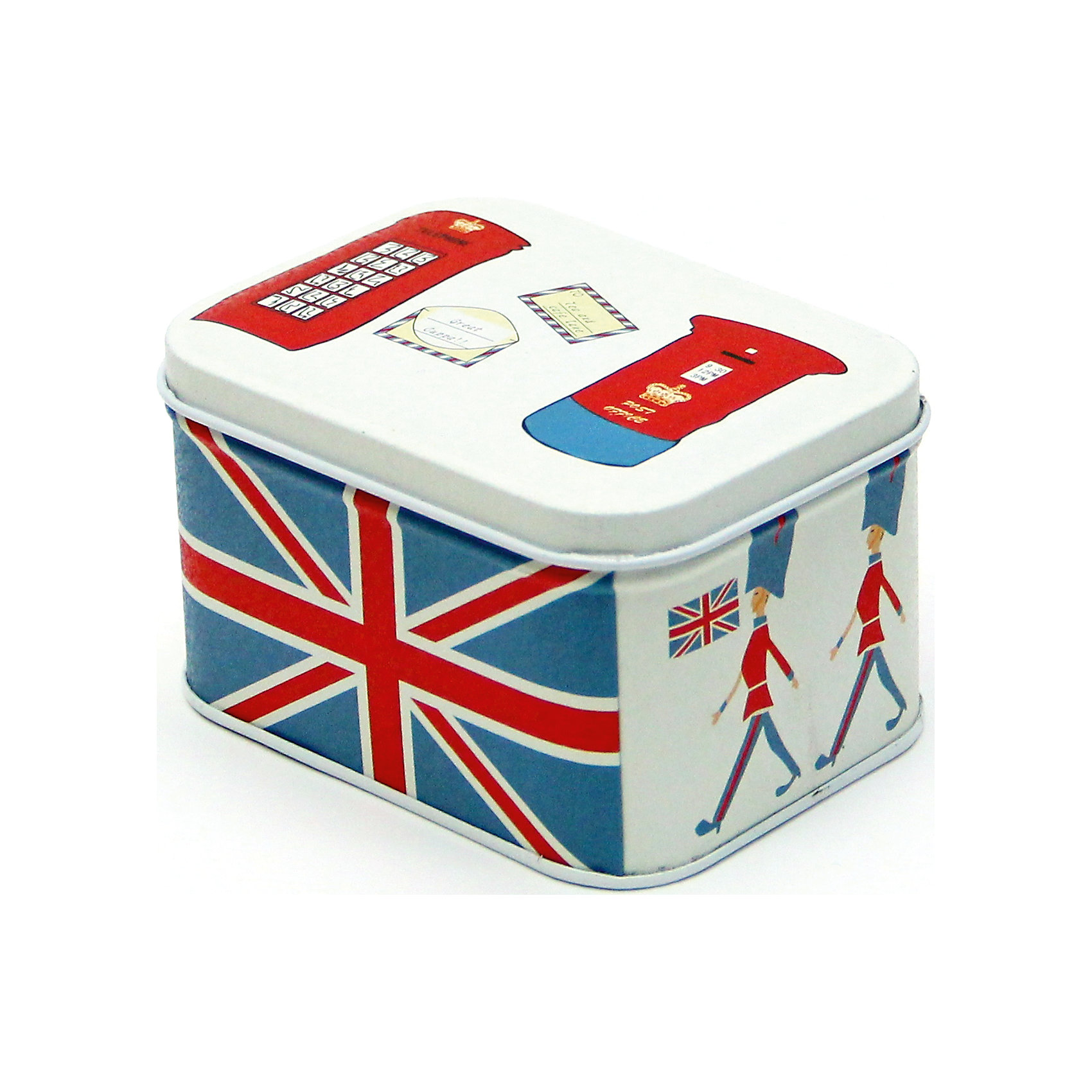 Коробка для мелочей Лондон 10,5*8*6 смПредметы интерьера<br>Удобная и практичная коробка для мелочей Лондон позволит компактно разместить различные мелочи и не тратить время на их поиски. Коробка выполнена из черного окрашенного металла и имеет оригинальный дизайн с изображением британского флага и характерными атрибутами британской столицы, оснащена откидной крышкой.<br><br>Дополнительная информация:<br><br>- Материал: черный окрашенный металл.<br>- Размер коробки: 10,5 х 8 х 6 см.<br>- Вес: 95 гр.<br><br>Коробку для мелочей Лондон, Феникс-презент, можно купить в нашем интернет-магазине.<br><br>Ширина мм: 60<br>Глубина мм: 80<br>Высота мм: 100<br>Вес г: 95<br>Возраст от месяцев: 36<br>Возраст до месяцев: 2147483647<br>Пол: Унисекс<br>Возраст: Детский<br>SKU: 4501175