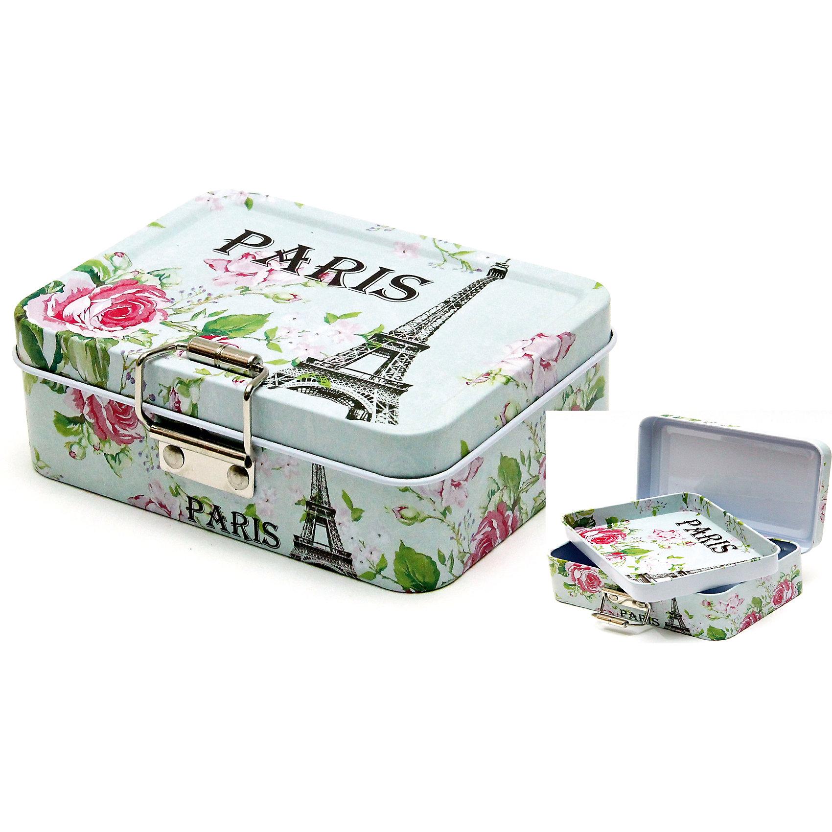 """Феникс-Презент Коробка для мелочей """"Парижская роза"""" 12,5*9*4 см"""