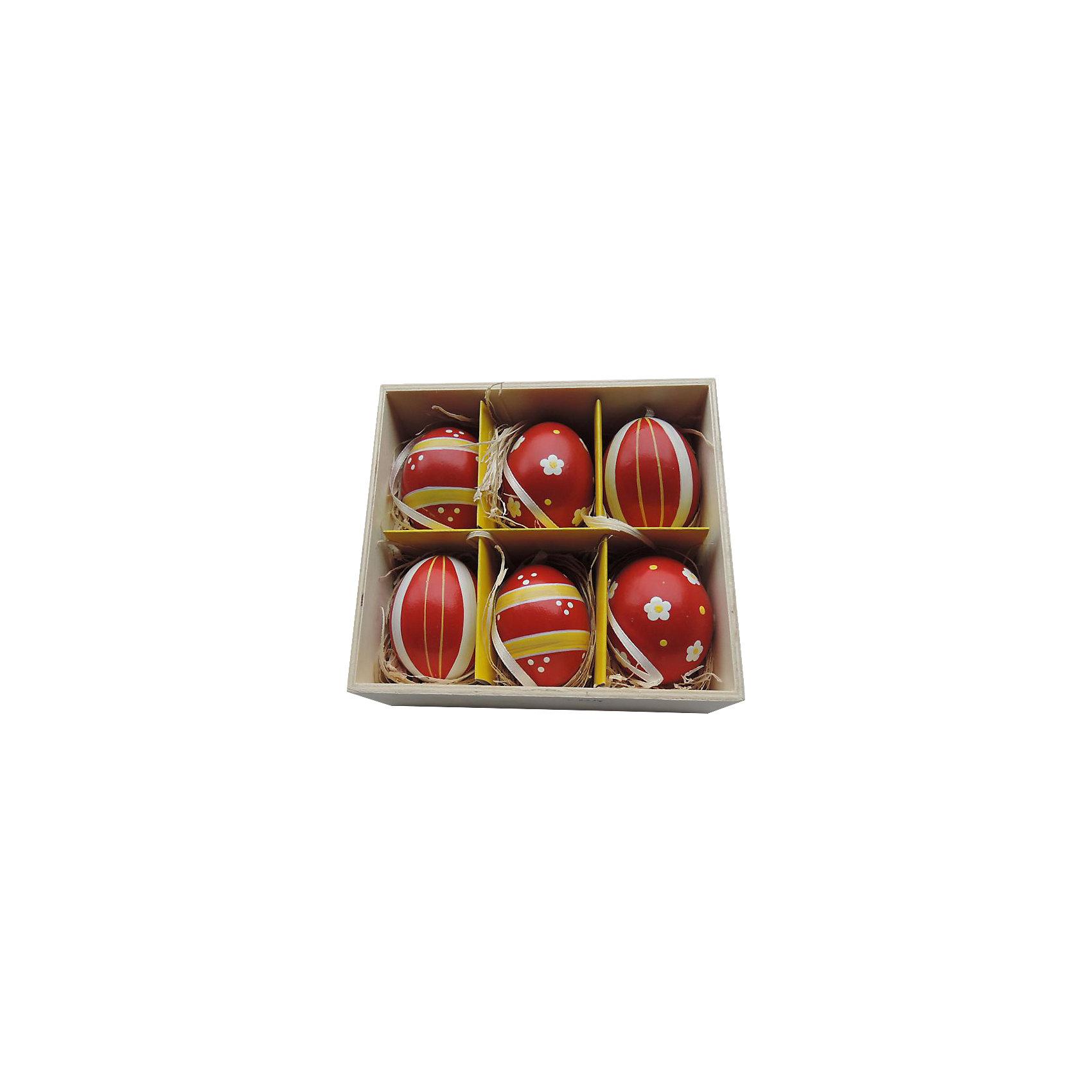 Декоративный набор пасхальных яиц Ромашки и полоски 6 штДекоративное подвесное пасхальное яйцо - идеальный вариант для украшения дома к празднику или же для пасхального сувенира. Подвески выполнены из натуральной скорлупы, украшены нежными рисунками, имеют специальные текстильные петельки для подвешивания. В комплекте - 6 пасхальных яиц, расположенных в оригинальном  деревянного ящичке с подложкой из лыко.<br><br>Дополнительная информация:<br><br>- Материал: скорлупа куриного яйца, текстиль, лыко.<br>- Размер яйца: 4 см х 4 см х 5,5 см.<br>- Размер упаковки: 16х15х6 см.<br>- 6 штук в наборе. <br><br>Декоративный набор пасхальных яиц Ромашки и полоски, 6 шт, можно купить в нашем магазине.<br><br>Ширина мм: 50<br>Глубина мм: 140<br>Высота мм: 150<br>Вес г: 3<br>Возраст от месяцев: 36<br>Возраст до месяцев: 2147483647<br>Пол: Унисекс<br>Возраст: Детский<br>SKU: 4501204