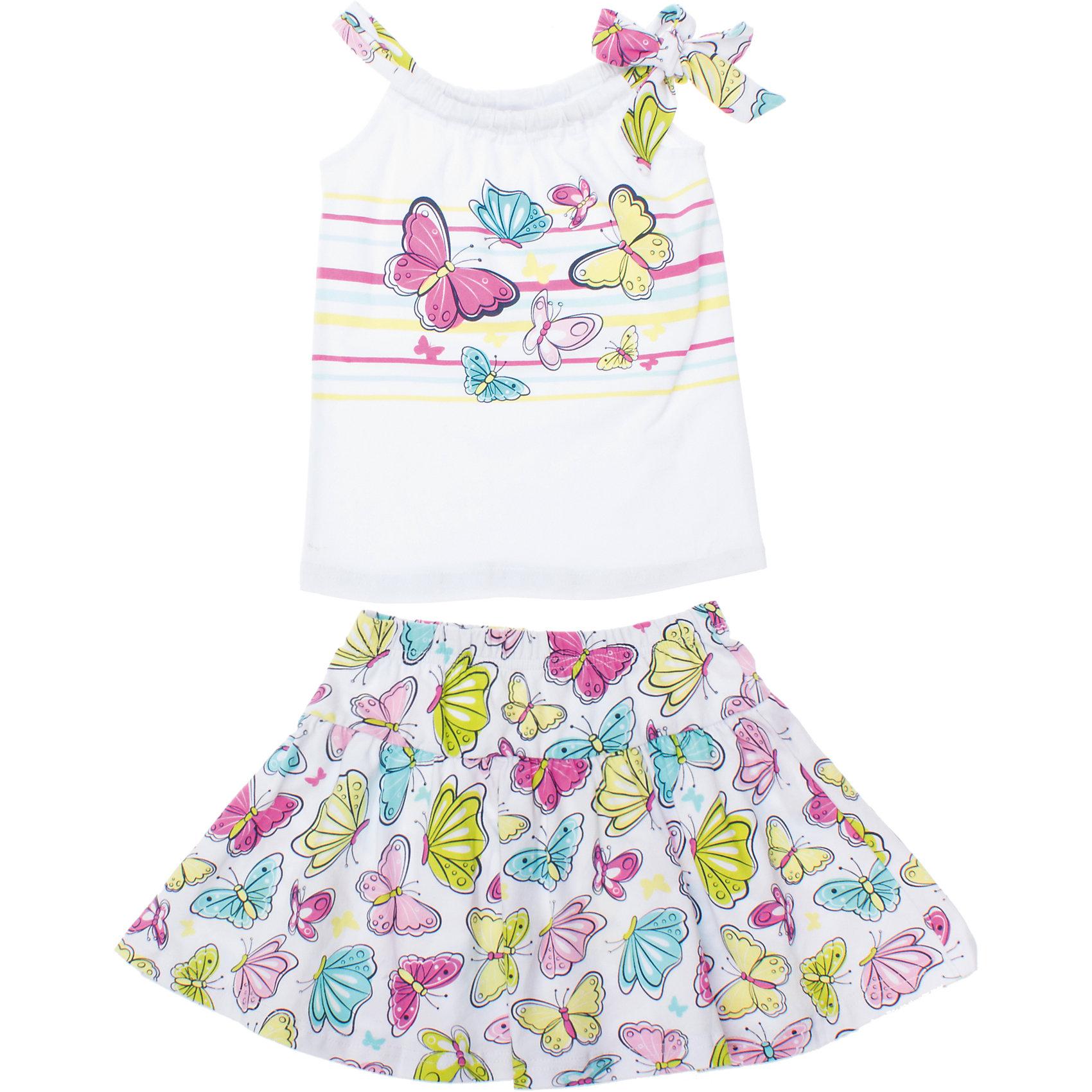 PlayToday Комплект: майка и юбка для девочки PlayToday