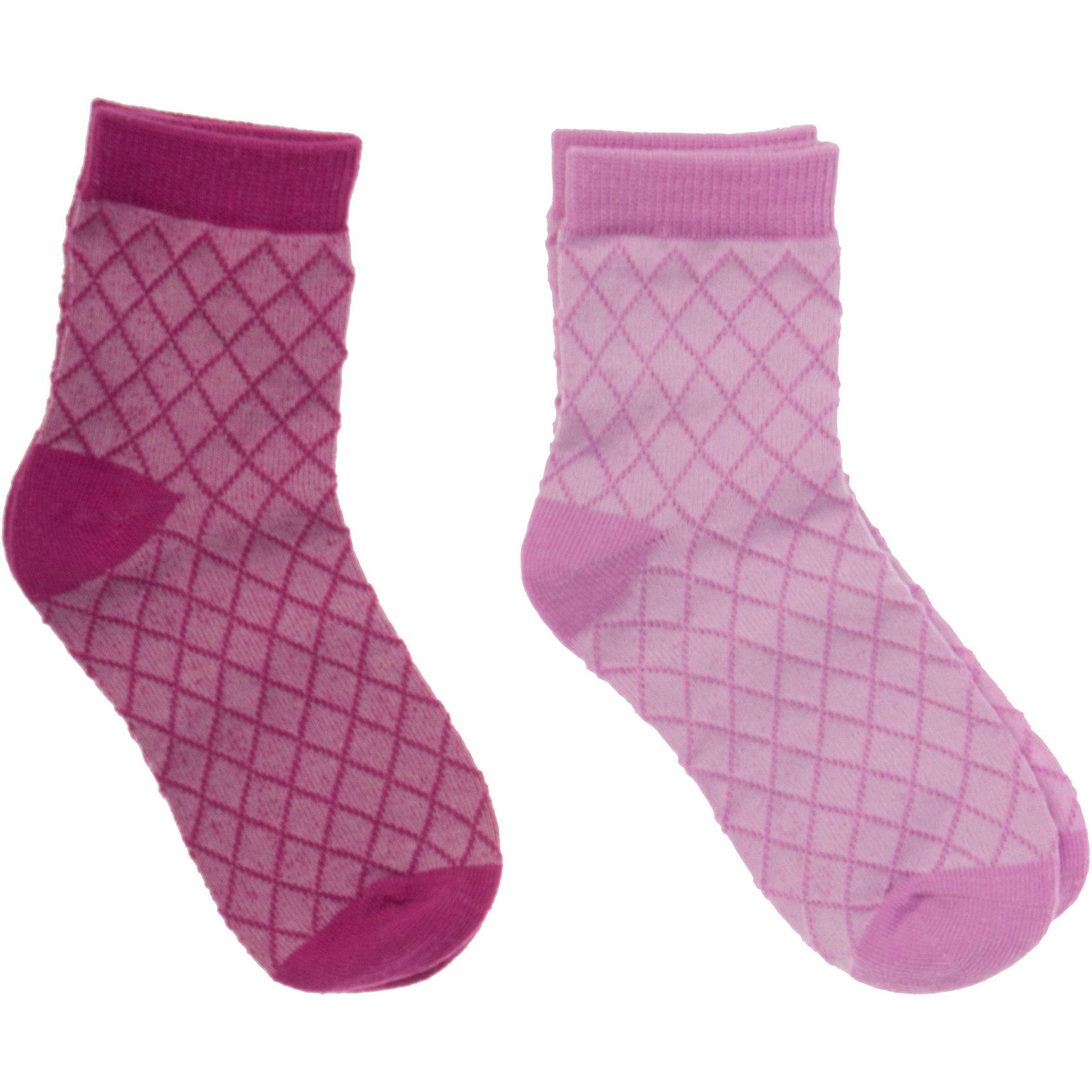 Носки ( 2 шт.) для девочки PlayTodayНоски<br>Носки для девочки PlayToday <br><br>Состав: 75% хлопок, 22% нейлон, 3% эластан <br><br>Мягкая резинка сверху<br>Необычный узор - ромбики, как вафелька<br><br>Ширина мм: 87<br>Глубина мм: 10<br>Высота мм: 105<br>Вес г: 115<br>Цвет: розовый<br>Возраст от месяцев: 60<br>Возраст до месяцев: 84<br>Пол: Женский<br>Возраст: Детский<br>Размер: 98/104,122/128,110/116<br>SKU: 4502316