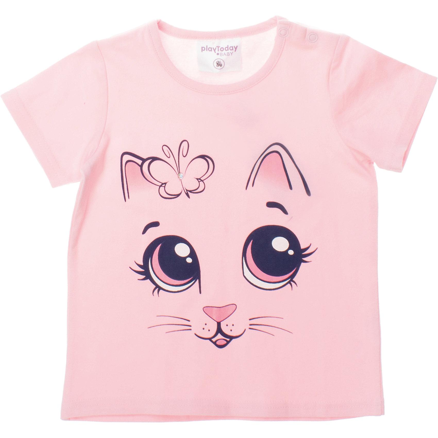PlayToday Футболка для девочки PlayToday футболка для девочки bj9801 розовый byblos