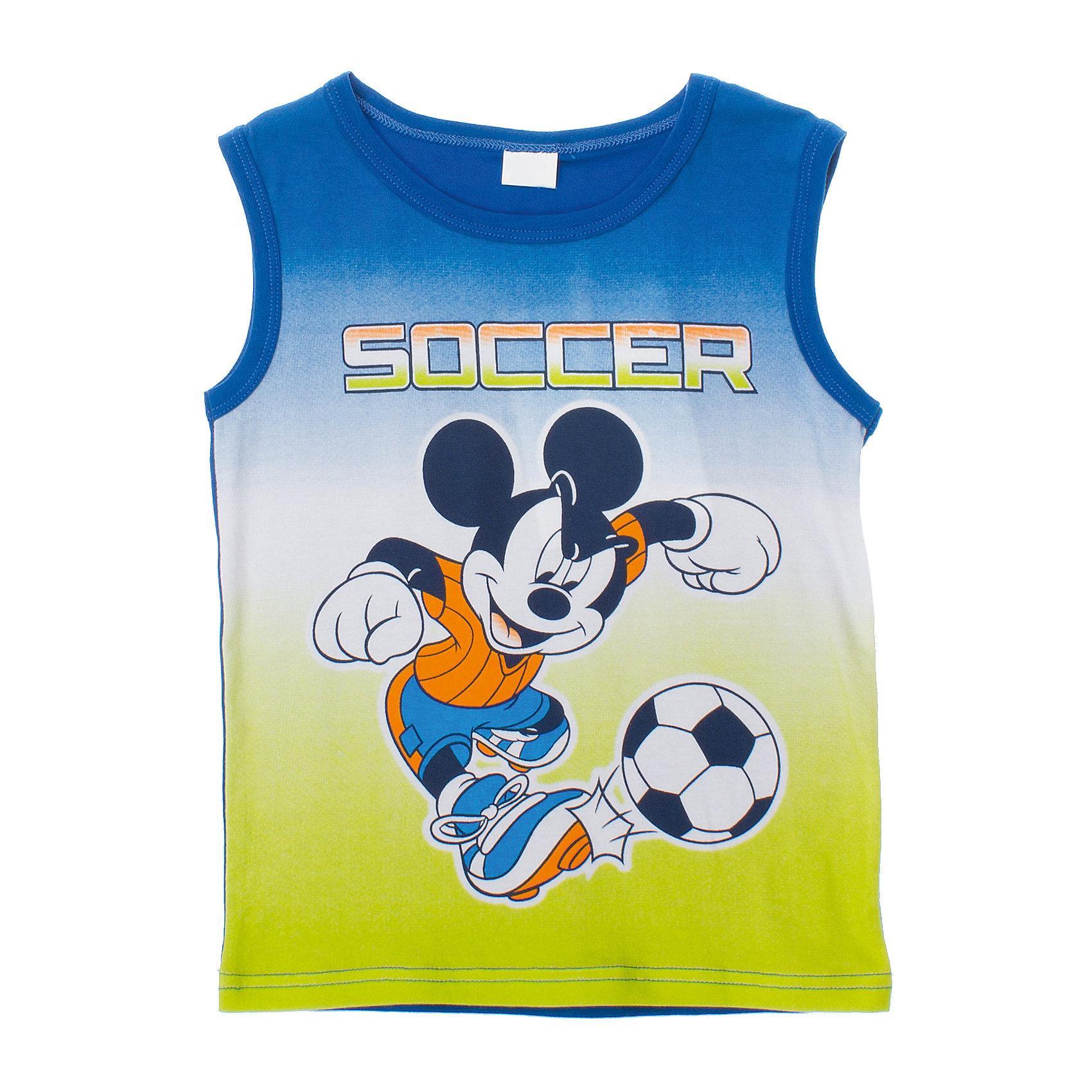Майка для мальчика PlayTodayМайка для мальчика PlayToday <br><br>Состав: 95% хлопок, 5% эластан <br><br>Майка из органического хлопка в спортивном стиле. <br>Лицензионный принт Disney.<br><br>Ширина мм: 199<br>Глубина мм: 10<br>Высота мм: 161<br>Вес г: 151<br>Цвет: синий<br>Возраст от месяцев: 60<br>Возраст до месяцев: 72<br>Пол: Мужской<br>Возраст: Детский<br>Размер: 110,98,122,104,128,116<br>SKU: 4503487