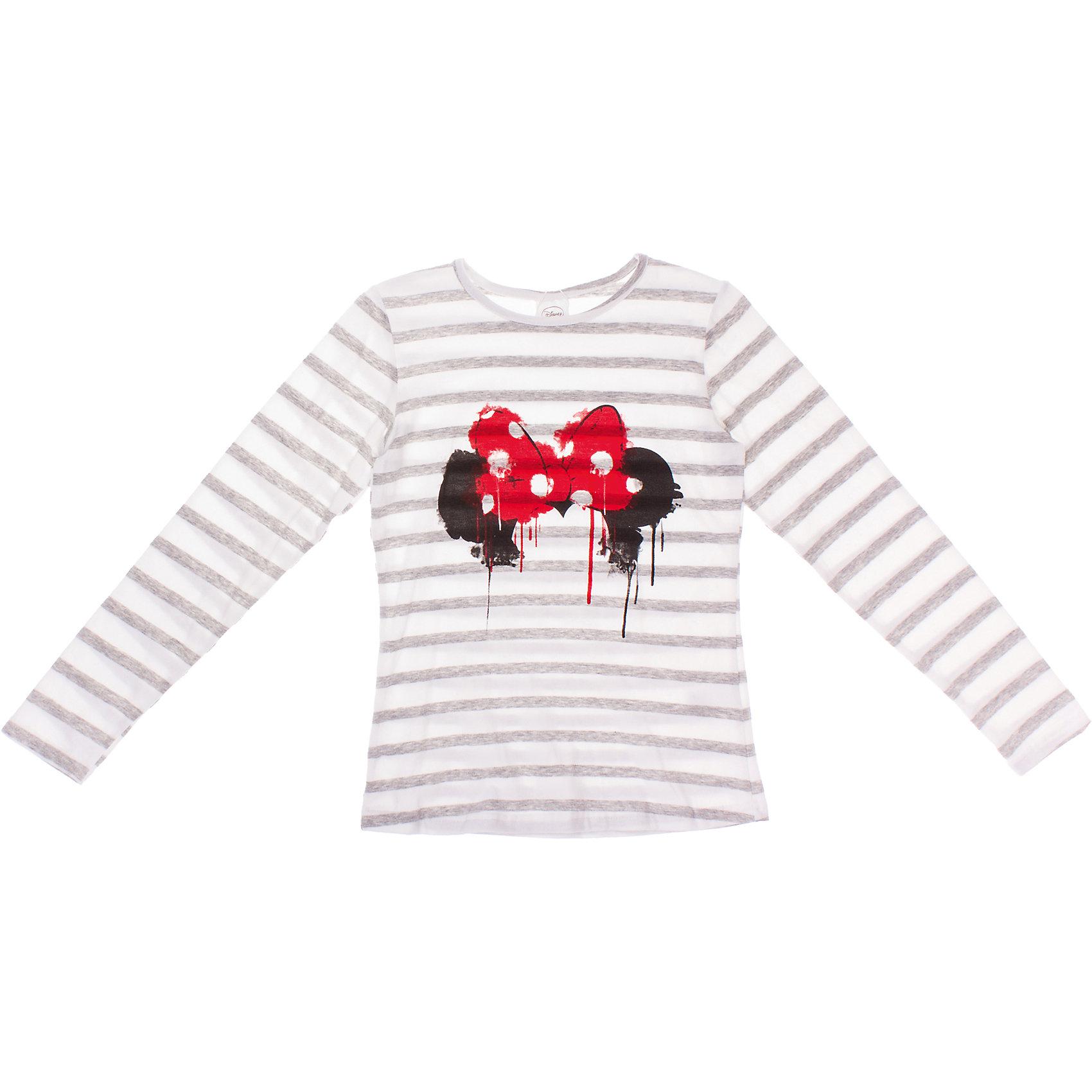Футболка с длинным рукавом для девочки S'CoolФутболки с длинным рукавом<br>Футболка для девочки S'Cool <br><br>Состав: 95% хлопок, 5% эластан <br><br>Хлопковая футболка с длинными рукавами, сделана по лицензии Disney. <br>Ткань в полоску - пестровязанная. <br>Стильный принт.<br><br>Ширина мм: 199<br>Глубина мм: 10<br>Высота мм: 161<br>Вес г: 151<br>Цвет: белый<br>Возраст от месяцев: 168<br>Возраст до месяцев: 180<br>Пол: Женский<br>Возраст: Детский<br>Размер: 164,146,140,158,134,152<br>SKU: 4503674