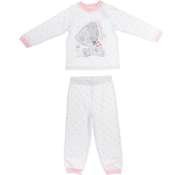 Пижама для девочки PlayTodayПижамы и сорочки<br>Пижама для девочки PlayToday <br><br>Состав: 95% хлопок, 5% эластан <br><br>Уютная розовая пижамка для малышки.<br>Украшена водным принтом с мишкой Тедди<br>На плече застежки-кнопки<br>Рукава, воротник, пояс и низ штанишек на резинке<br><br>Ширина мм: 281<br>Глубина мм: 70<br>Высота мм: 188<br>Вес г: 295<br>Цвет: белый<br>Возраст от месяцев: 9<br>Возраст до месяцев: 12<br>Пол: Женский<br>Возраст: Детский<br>Размер: 74,80,86,92<br>SKU: 4503762