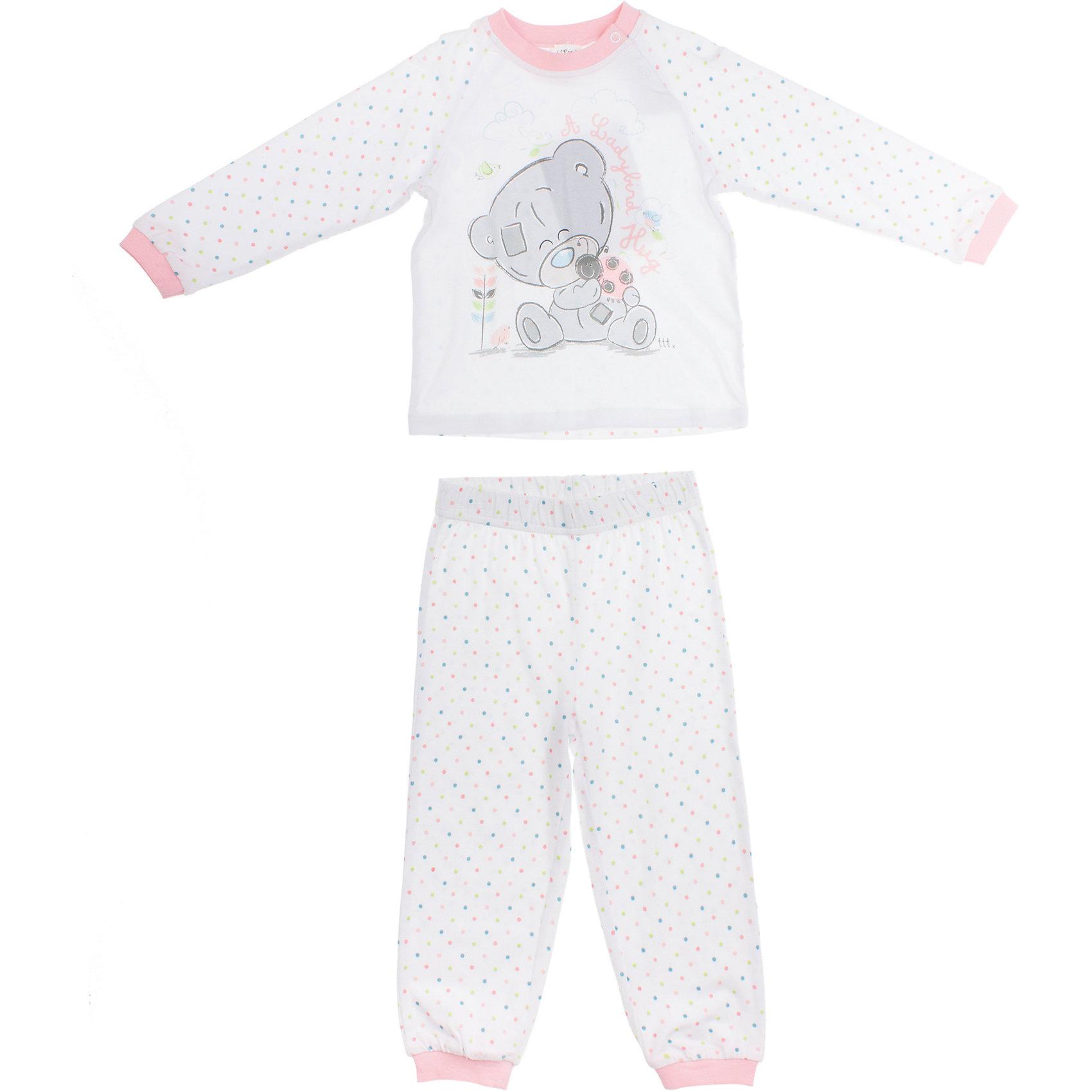 Пижама для девочки PlayTodayПижамы и сорочки<br>Пижама для девочки PlayToday <br><br>Состав: 95% хлопок, 5% эластан <br><br>Уютная розовая пижамка для малышки.<br>Украшена водным принтом с мишкой Тедди<br>На плече застежки-кнопки<br>Рукава, воротник, пояс и низ штанишек на резинке<br><br>Ширина мм: 281<br>Глубина мм: 70<br>Высота мм: 188<br>Вес г: 295<br>Цвет: белый<br>Возраст от месяцев: 9<br>Возраст до месяцев: 12<br>Пол: Женский<br>Возраст: Детский<br>Размер: 74,80,92,86<br>SKU: 4503762