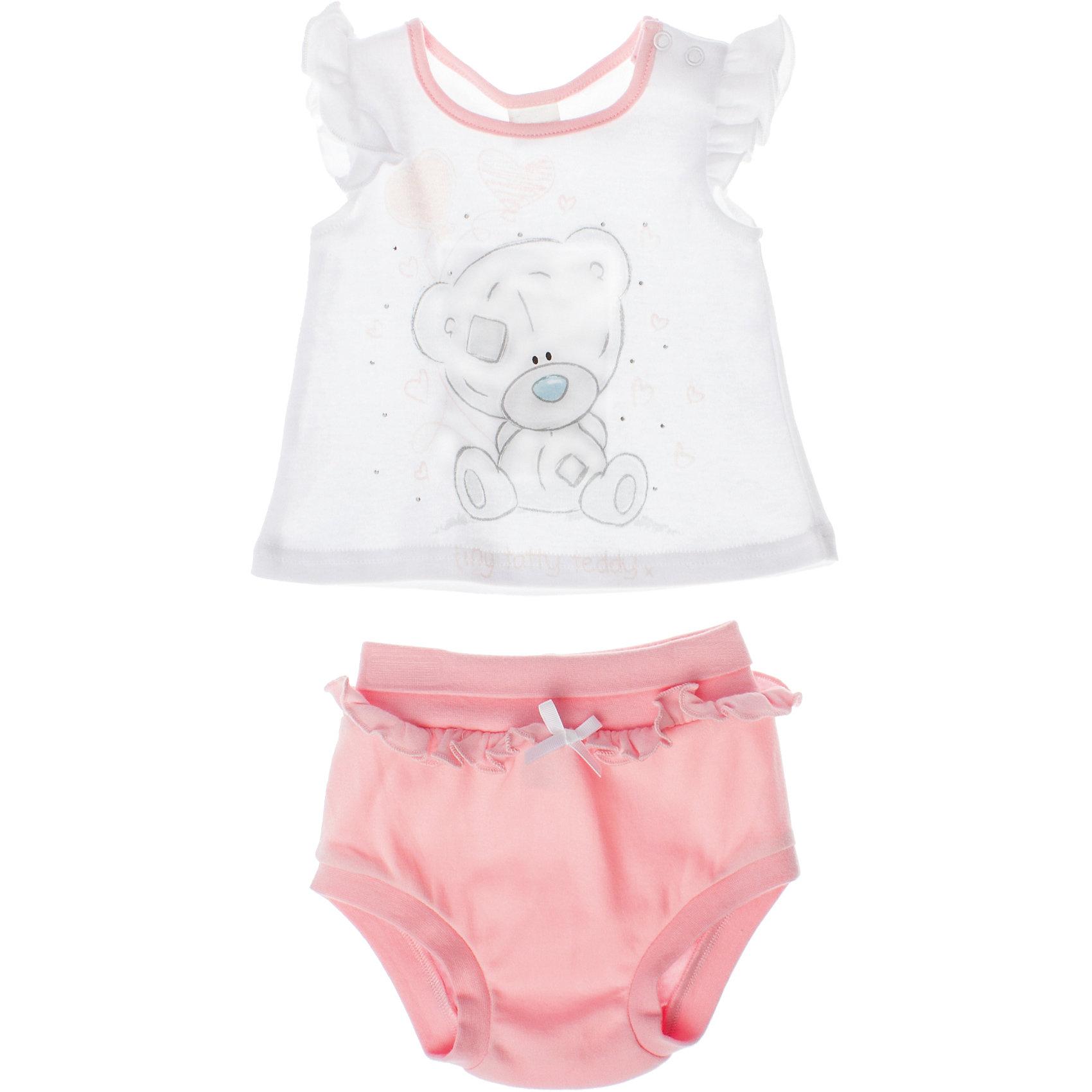 Комплект: майка и шорты для девочки PlayTodayКомплект: майка и шорты для девочки PlayToday <br><br>Состав: 100% хлопок <br><br>Майка:<br>Майка украшена водным принтом, глиттером и стразами.<br>Отрезная кокетка на рукавах.<br>Застежки-кнопки на плече.<br>Шорты:<br>Пояс и низ трусиков на резинке.<br>Отрезная кокетка на поясе.<br>Украшены бантиком.<br><br>Ширина мм: 199<br>Глубина мм: 10<br>Высота мм: 161<br>Вес г: 151<br>Цвет: розовый<br>Возраст от месяцев: 0<br>Возраст до месяцев: 3<br>Пол: Женский<br>Возраст: Детский<br>Размер: 56,62,74,68<br>SKU: 4503792
