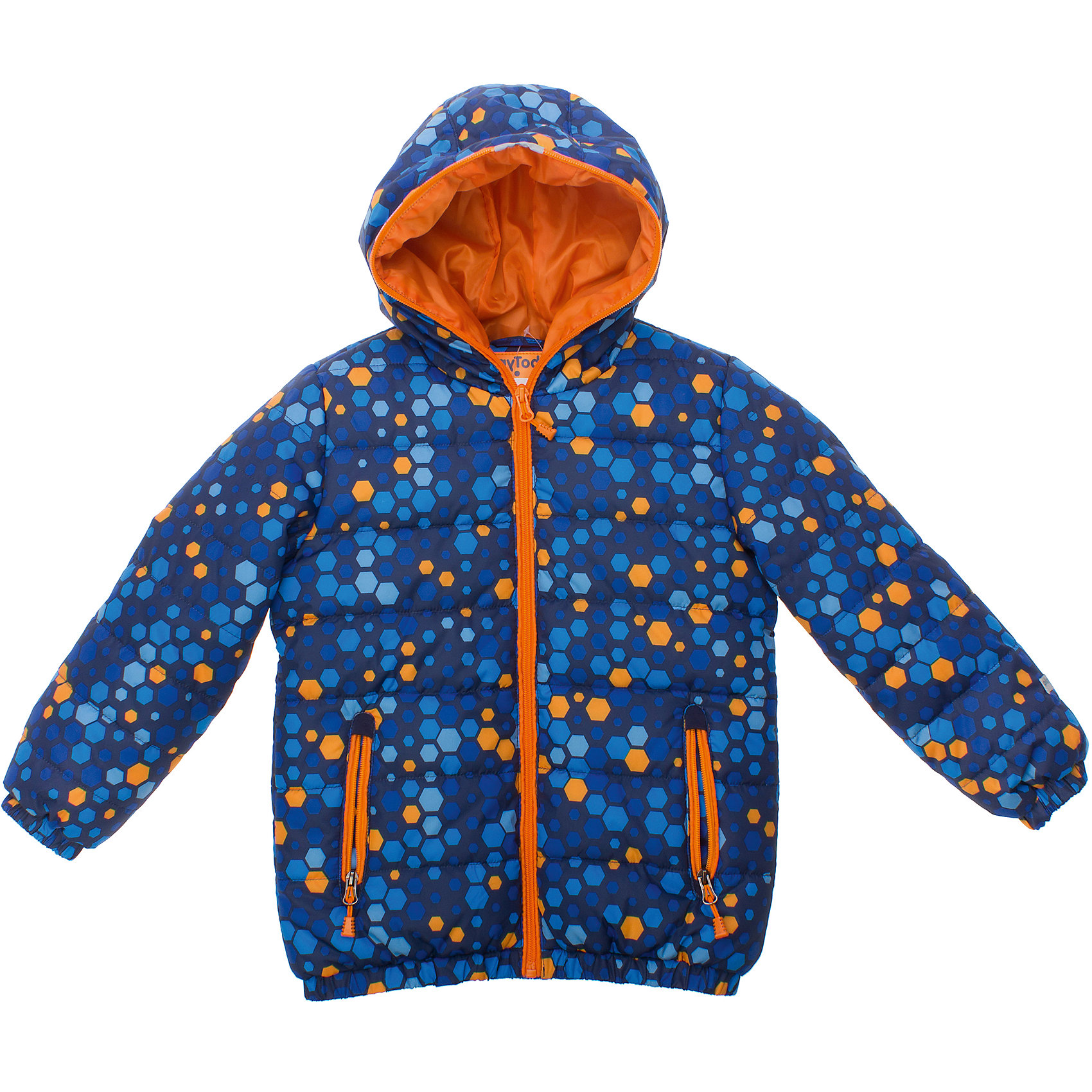Куртка для мальчика PlayTodayКуртка для мальчика PlayToday <br><br>Состав: <br>Верх: 100% полиэстер<br>Подкладка: 100% полиэстер<br>Наполнитель: 100% полиэстер <br><br>Ткань в набивку<br>Застегивается на молнию по центру<br>Молния застегивается до самого верха капюшона<br>Подкладка - таффета<br>Рукава и низ на резинке<br>Два кармана на молнии<br><br>Ширина мм: 356<br>Глубина мм: 10<br>Высота мм: 245<br>Вес г: 519<br>Цвет: синий<br>Возраст от месяцев: 72<br>Возраст до месяцев: 84<br>Пол: Мужской<br>Возраст: Детский<br>Размер: 116,98,110,128,104,122<br>SKU: 4503881