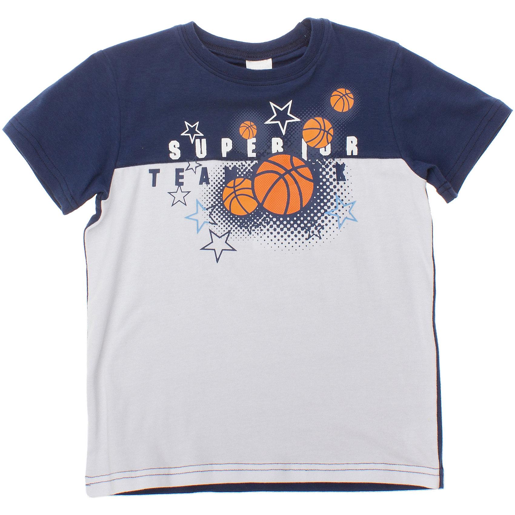 PlayToday Футболка для мальчика PlayToday футболка playtoday для мальчика цвет белый синий