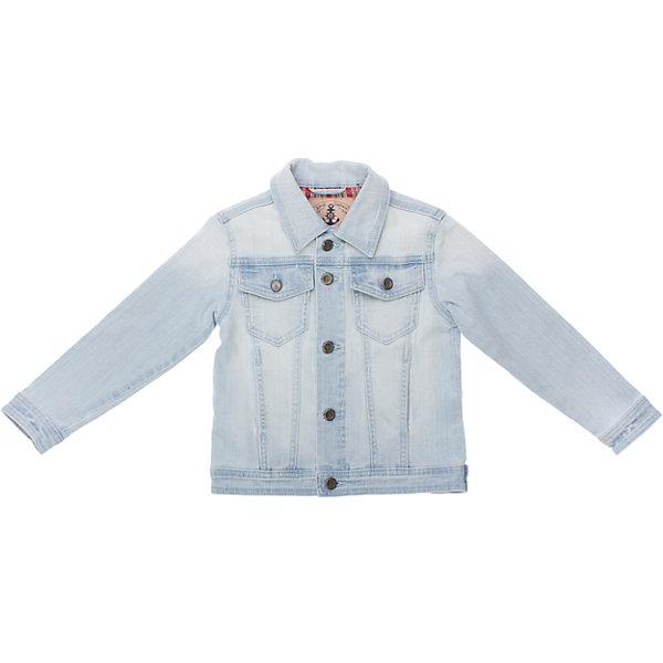 Куртка джинсовая для мальчика PlayTodayДжинсовая одежда<br>Куртка для мальчика PlayToday <br><br>Состав: 90% хлопок, 8% вискоза, 2% эластан <br><br>Классическая голубая джинса<br>Застегивается на металлические пуговки с якорями<br>На груди 2 кармана на пуговках<br><br>Ширина мм: 356<br>Глубина мм: 10<br>Высота мм: 245<br>Вес г: 519<br>Цвет: белый<br>Возраст от месяцев: 48<br>Возраст до месяцев: 60<br>Пол: Мужской<br>Возраст: Детский<br>Размер: 104,122,128,98,110,116<br>SKU: 4504187